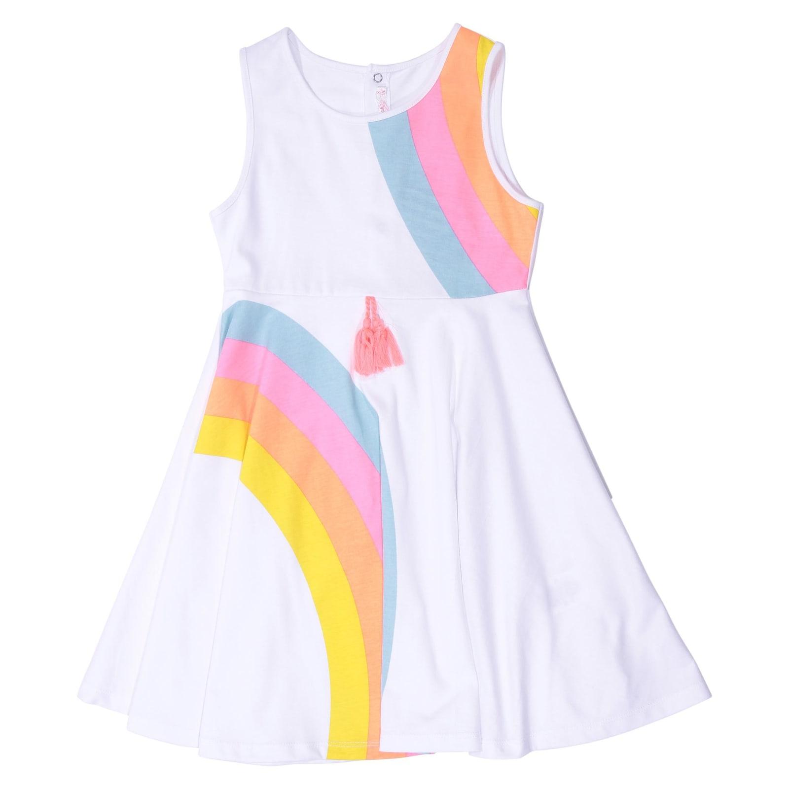 Billieblush White Cotton Jersey Dress