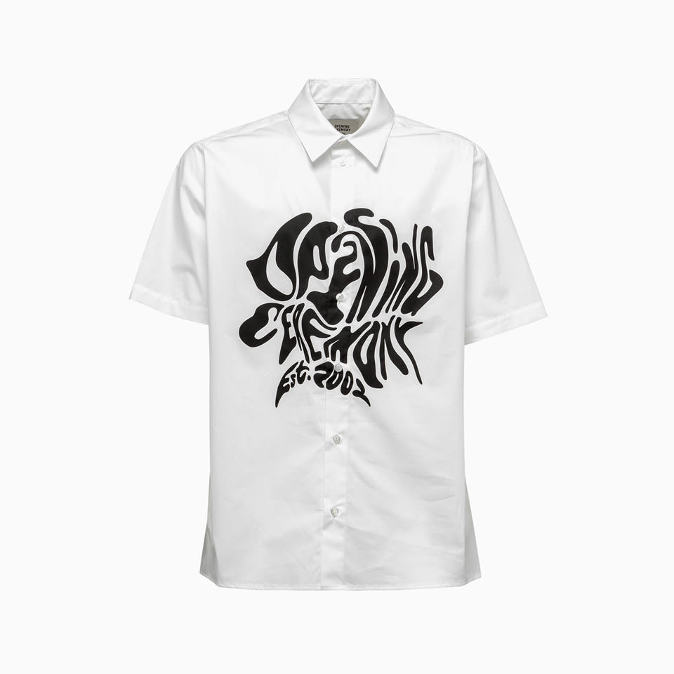 Opening Ceremony Cottons MELTED LOGO OPENING CEREMONY SHIRT YMGA006S21FAB0010111