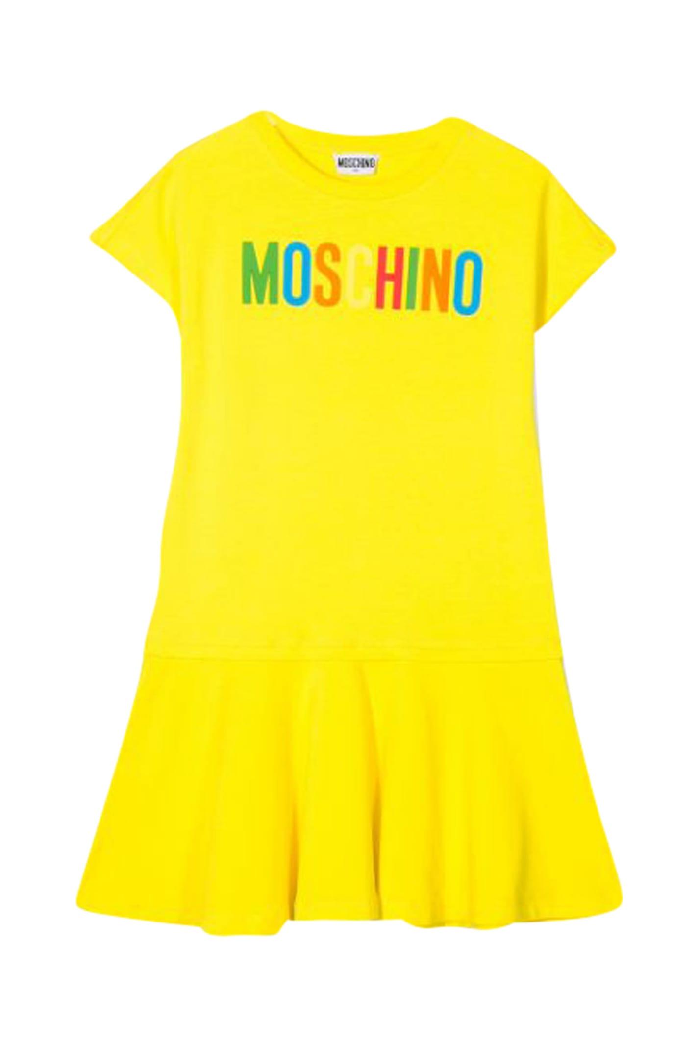 Buy Moschino Kids Ruffles Dress online, shop Moschino with free shipping