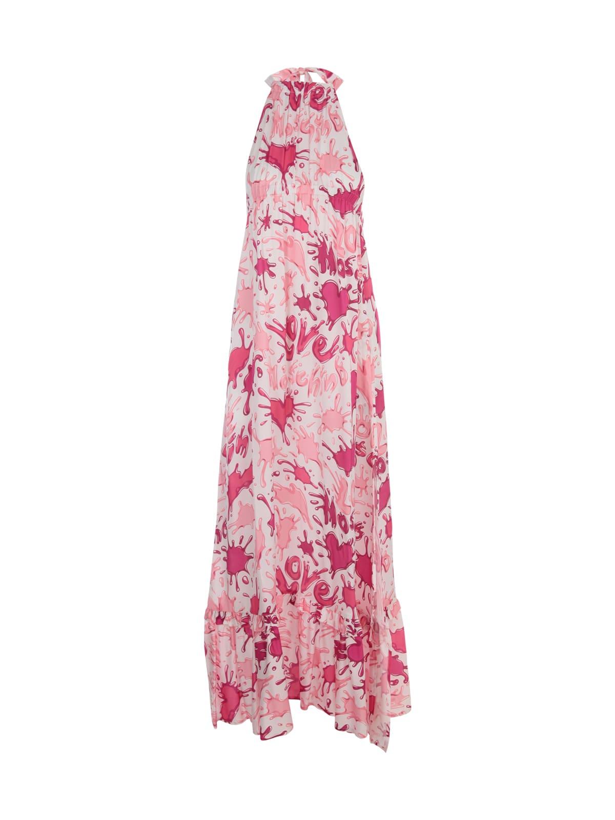 Love Moschino Sleeveless Dress Allover Splash