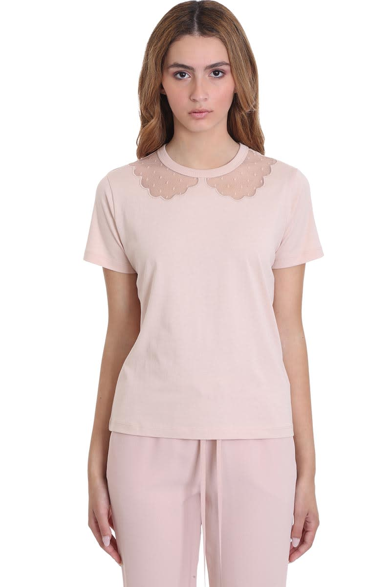 RED Valentino T-shirt In Rose-pink Cotton