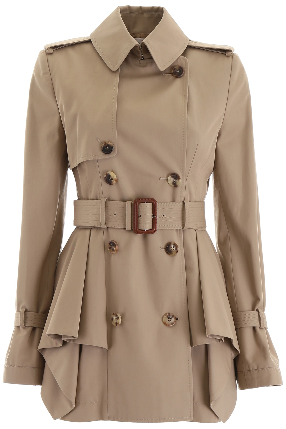 unequal in performance factory outlets attractivefashion Alexander McQueen Peplum Trench Coat