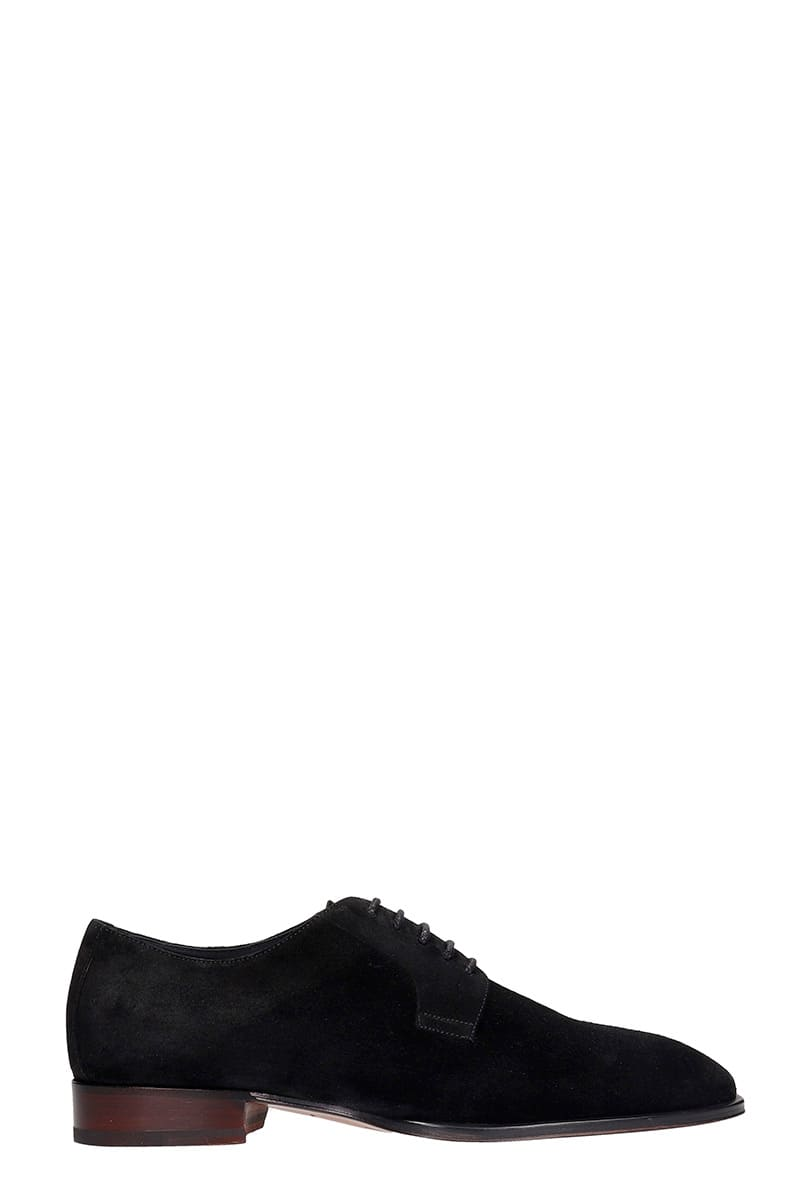 Giuseppe Zanotti Lace Up Shoes In Black Suede