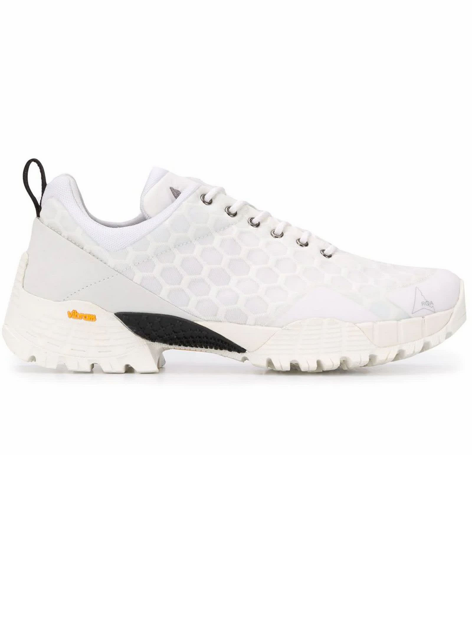 ROA White Oblique Hiking Sneakers