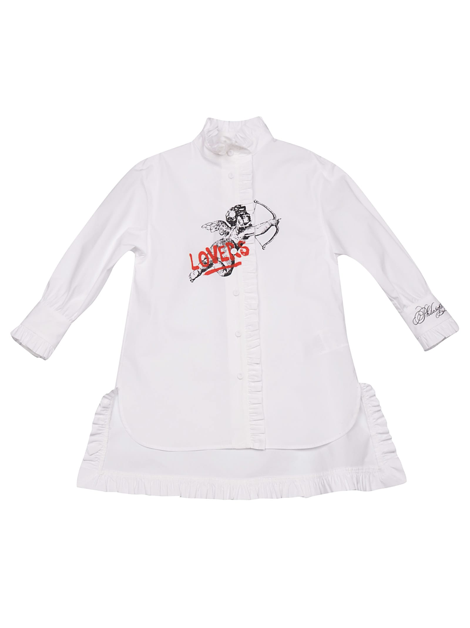Philosophy di Lorenzo Serafini Kids Lovers Shirt Dress