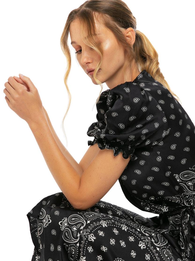 Buy Black Bandana Long Dress online, shop MC2 Saint Barth with free shipping