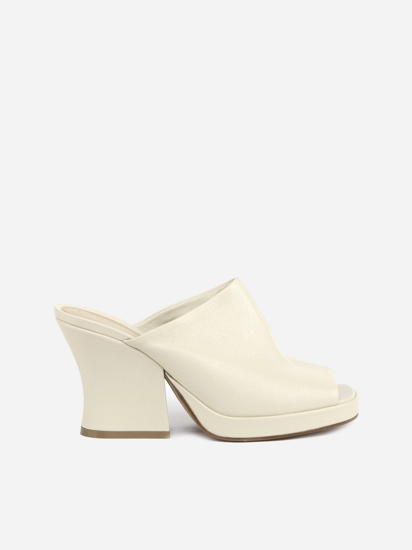 Buy Bottega Veneta Stack Mules Made Of Leather online, shop Bottega Veneta shoes with free shipping
