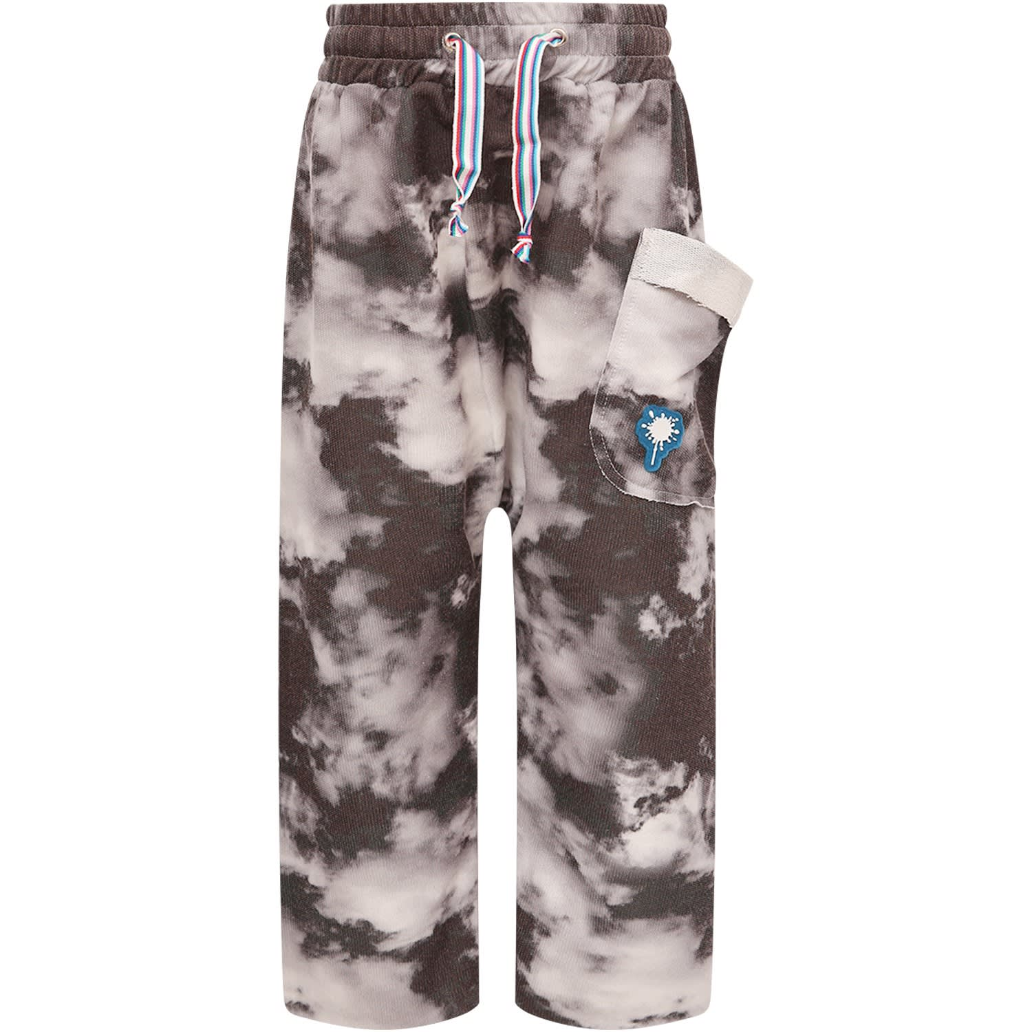 Black Pants With Grey Clouds