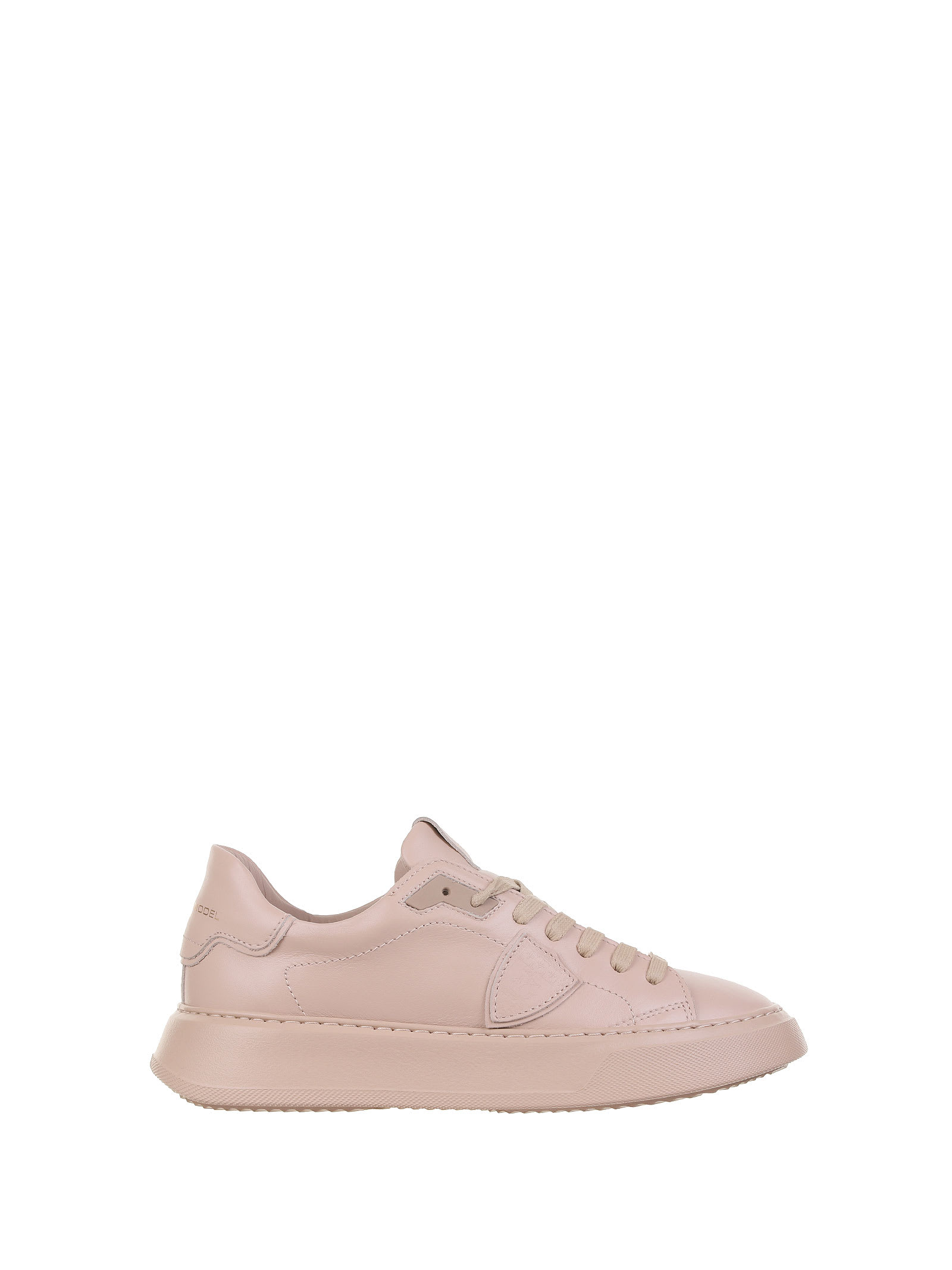 Philippe Model Leathers TEMPLE MONOCHROME BEIGE SNEAKERS