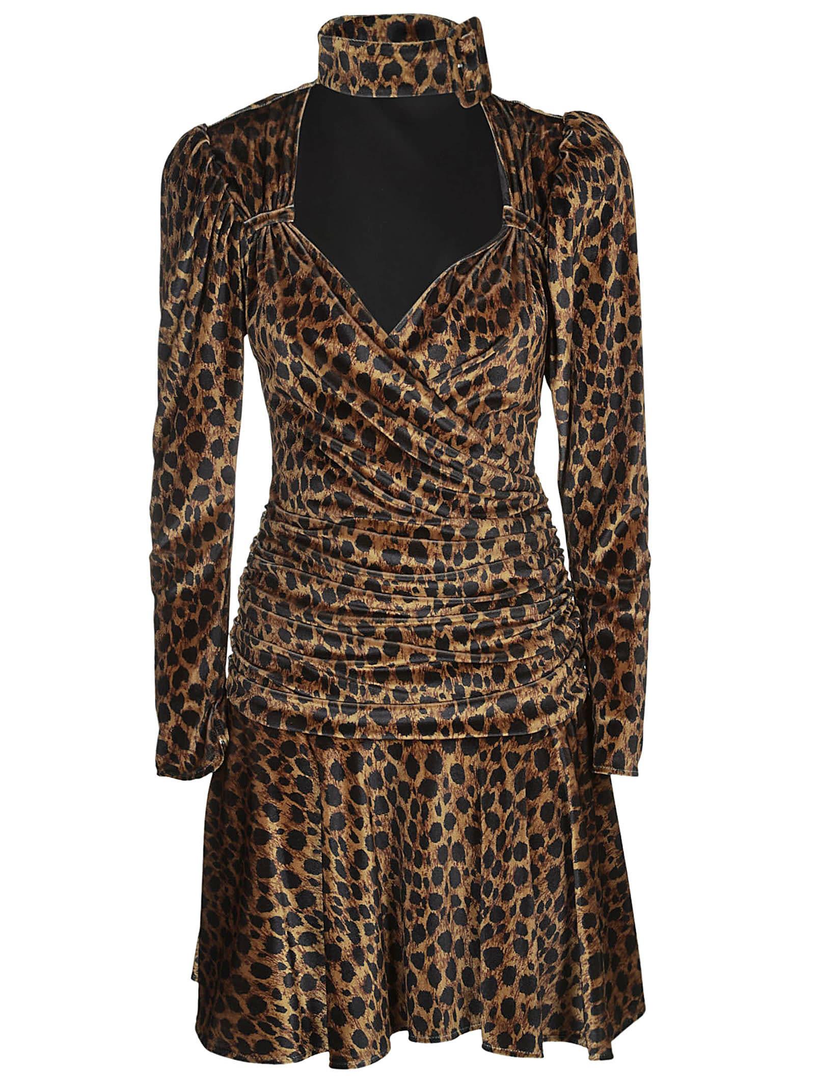 The Attico Leopard Print Mini Dress