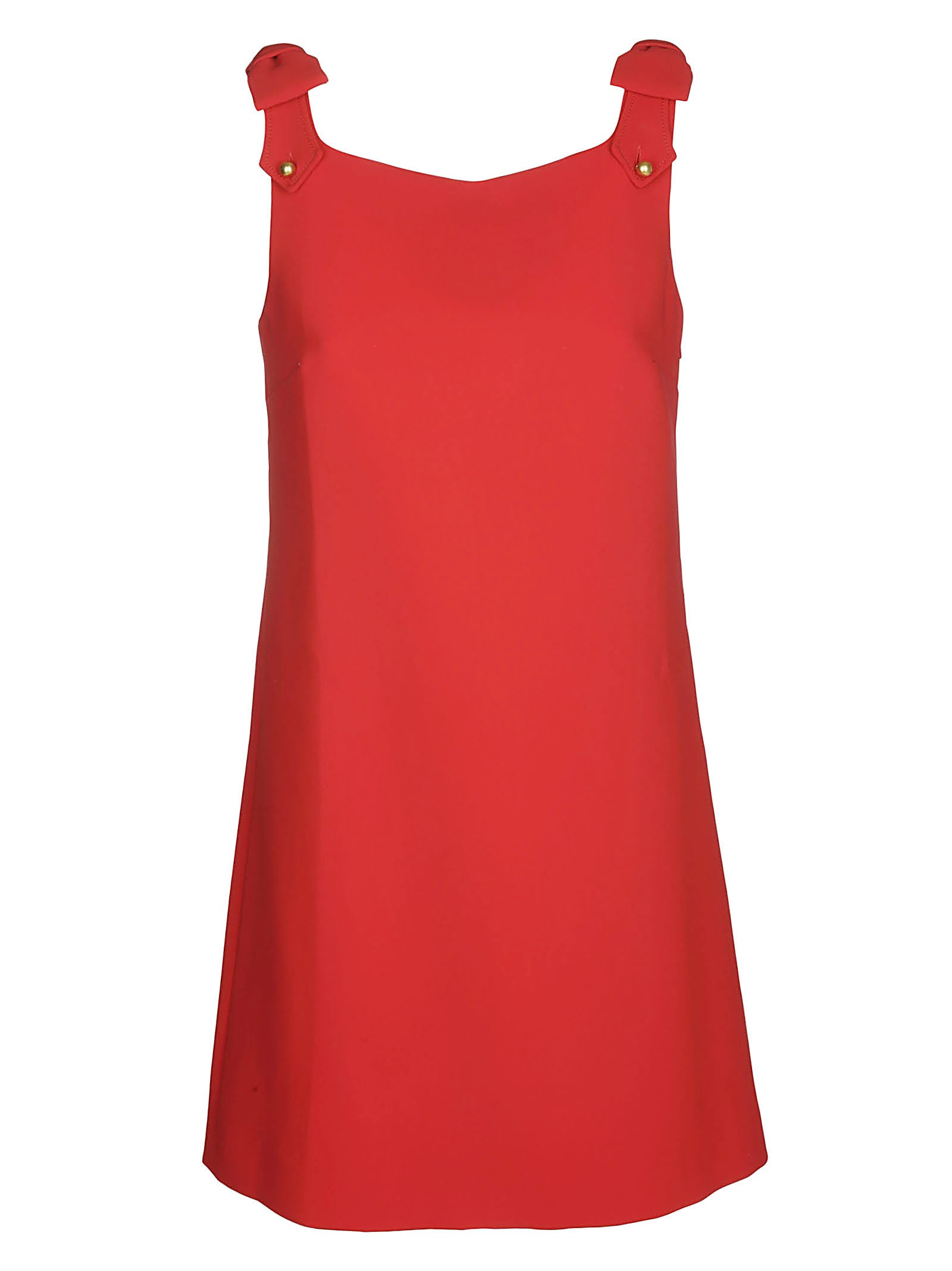 Miu Miu Red Pinafore Dress
