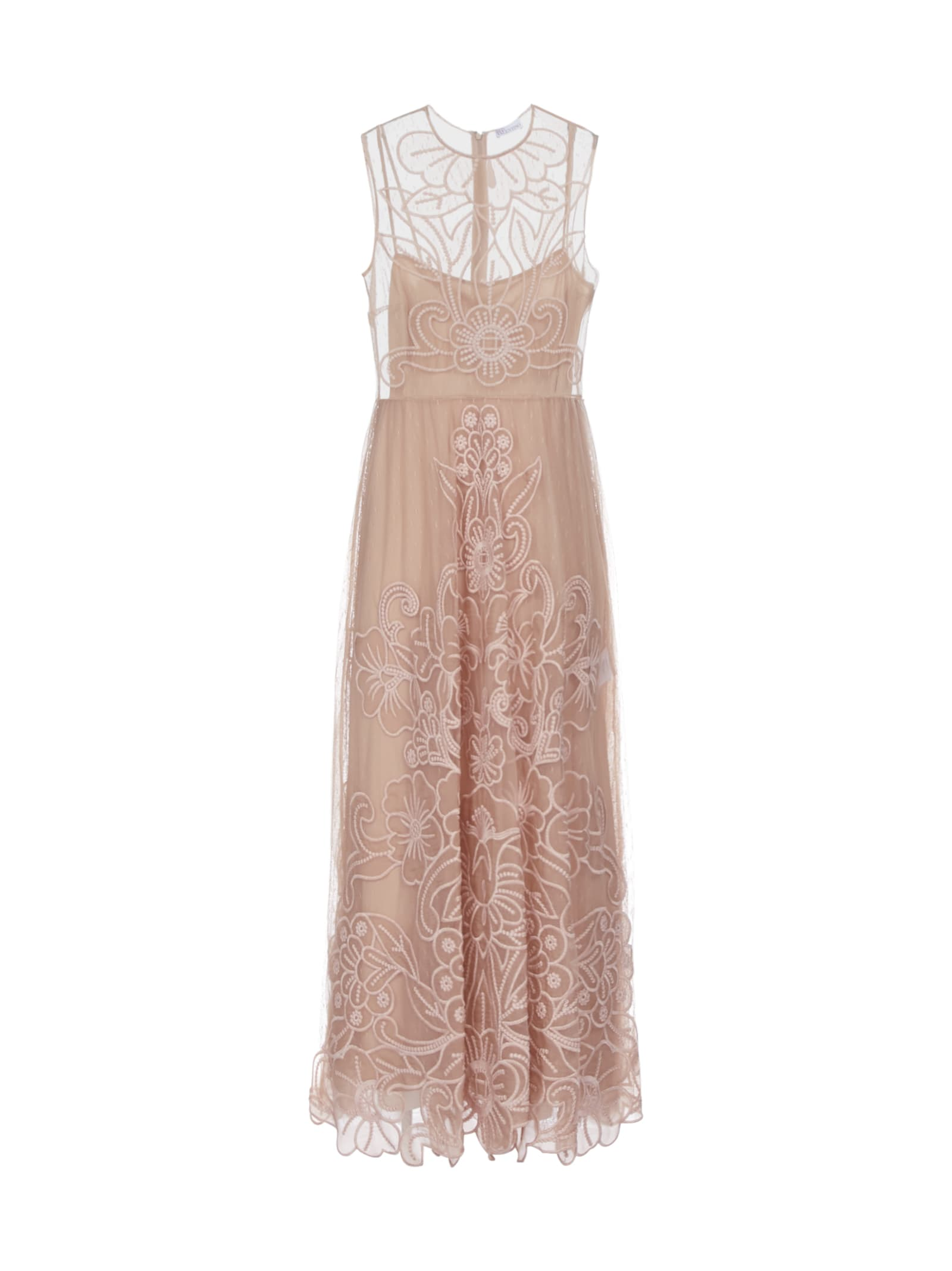 RED Valentino Organza Cut Out Floreale Dress
