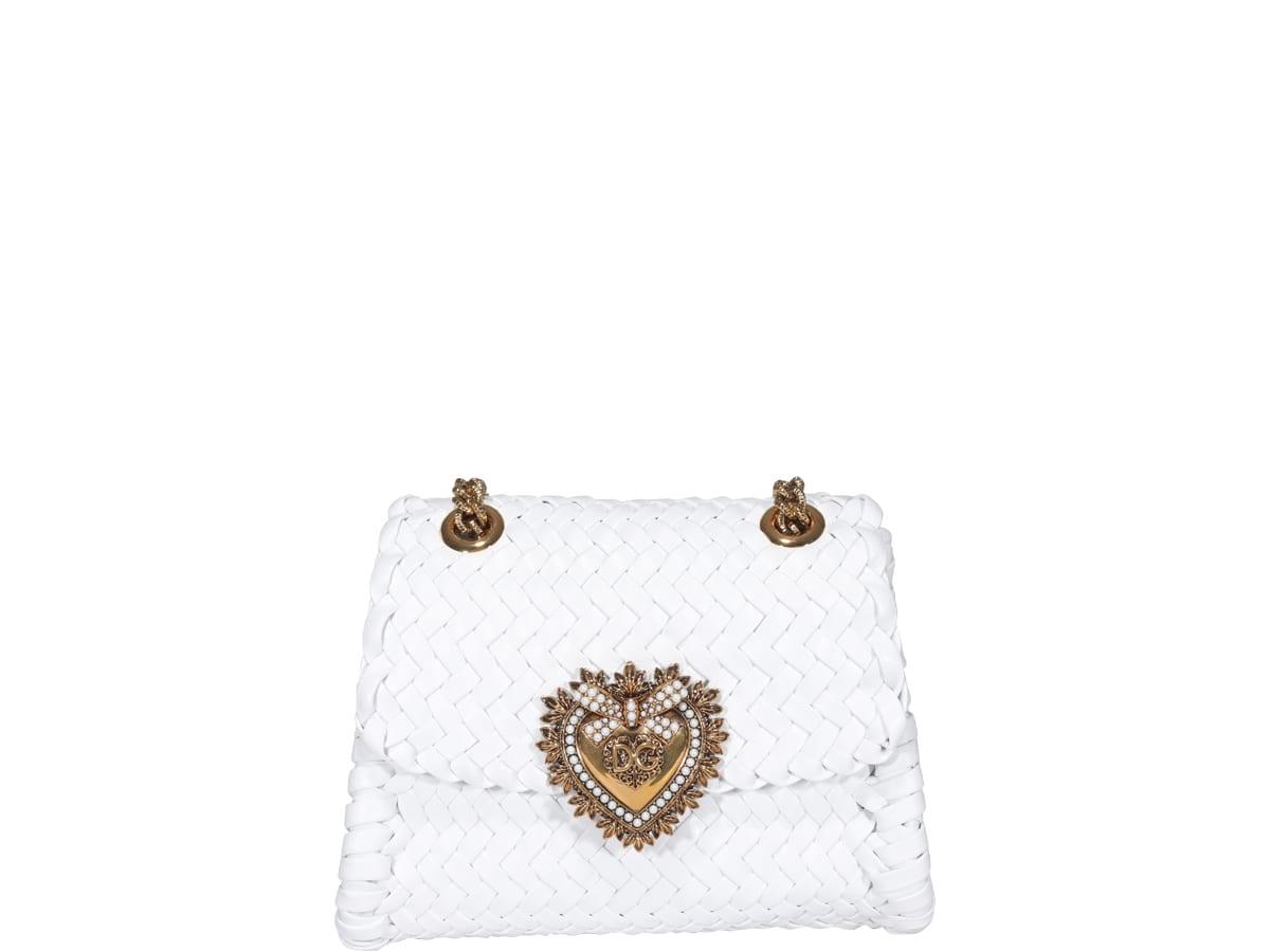 Dolce & Gabbana Small Devotion Bag In White