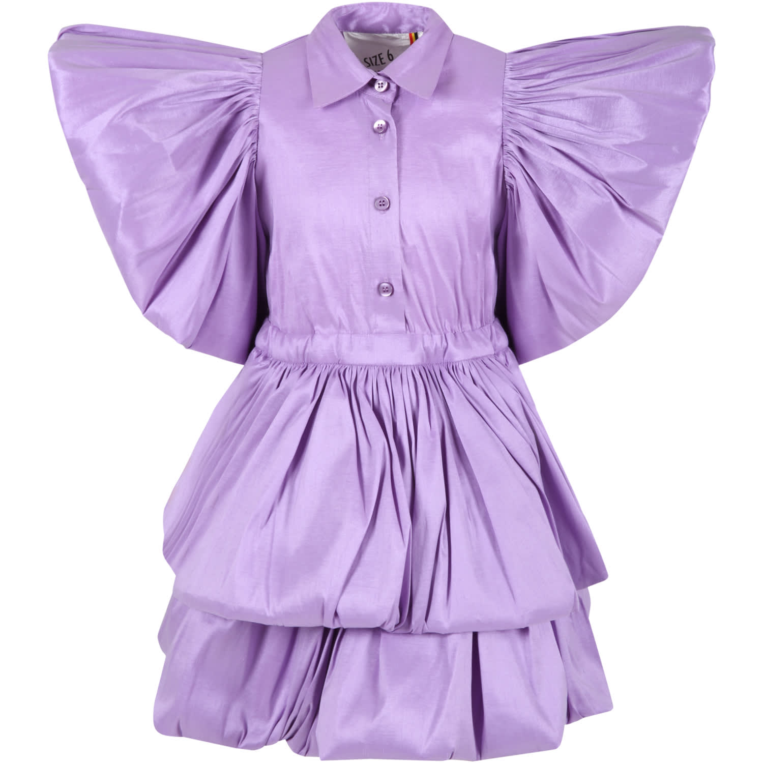 Lilac Dress For Girl With Ruffle