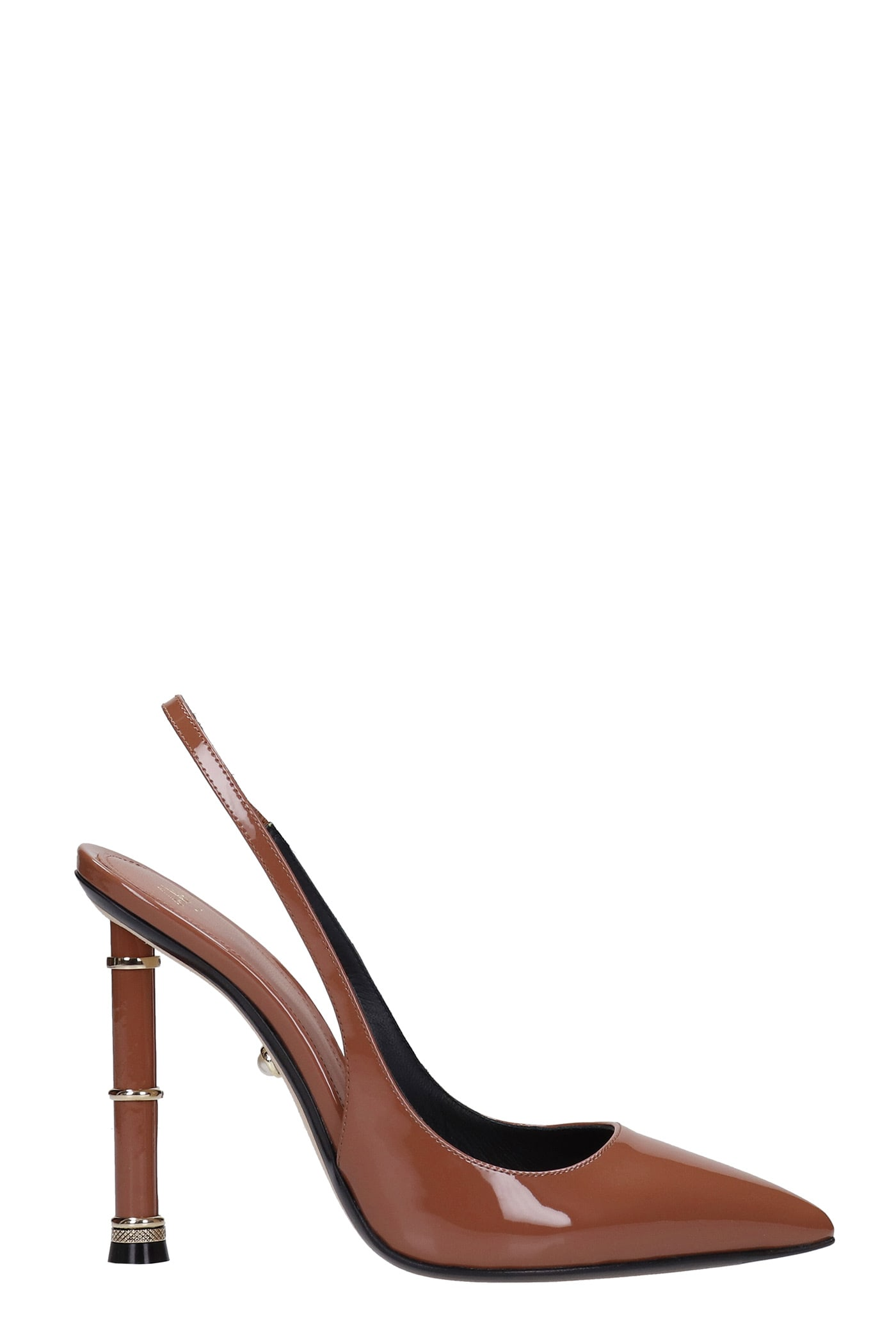 Valeria 110 Pumps In Brown Patent Leather