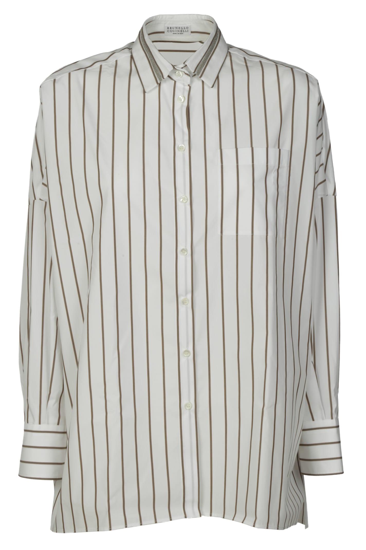 Brunello Cucinelli Stripe Print Shirt