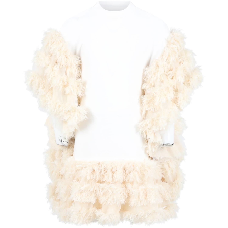 Buy Caroline Bosmans White Dress For Girl online, shop Caroline Bosmans with free shipping