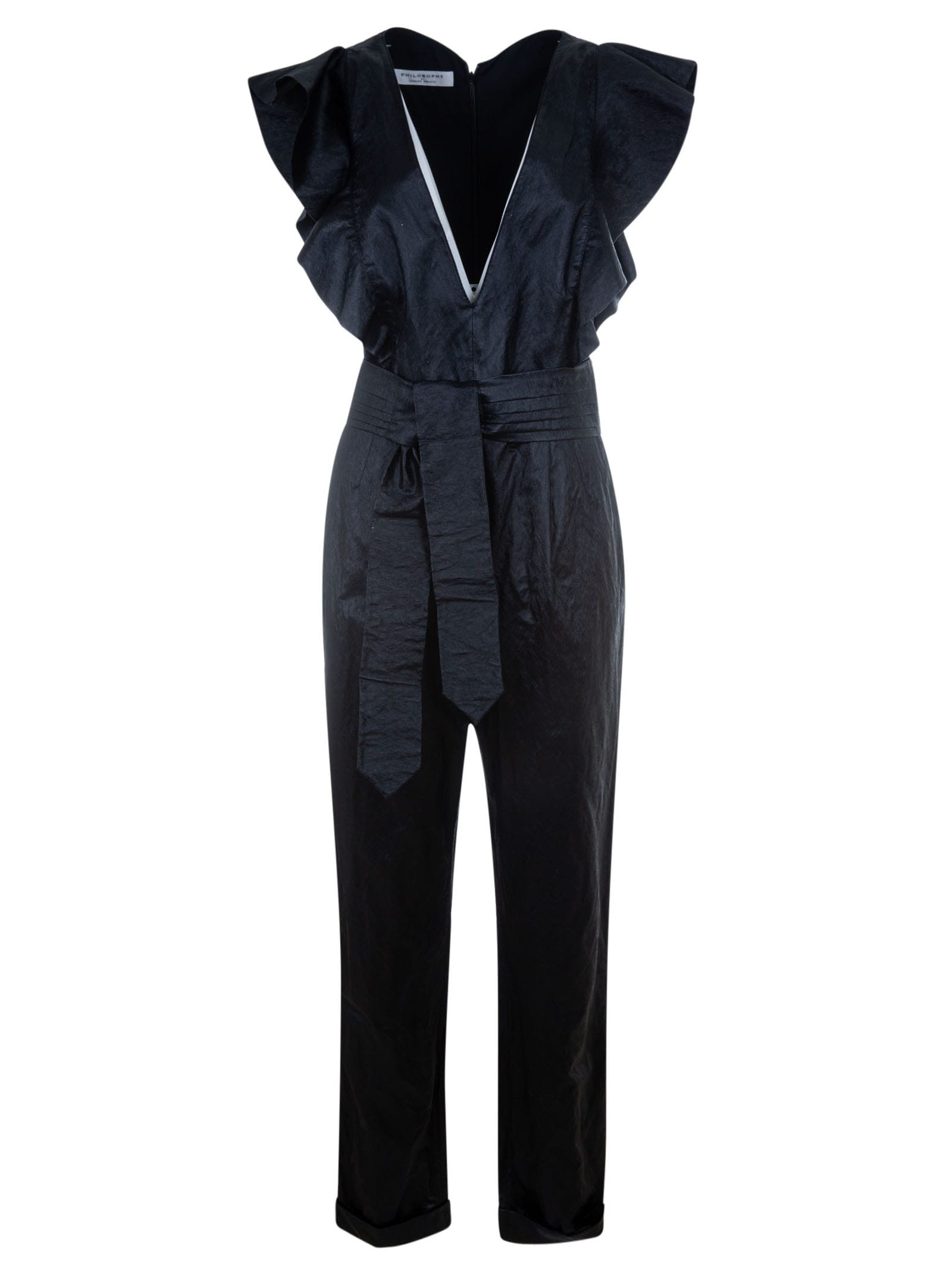 Buy Philosophy di Lorenzo Serafini V-neck Belted Dress online, shop Philosophy di Lorenzo Serafini with free shipping