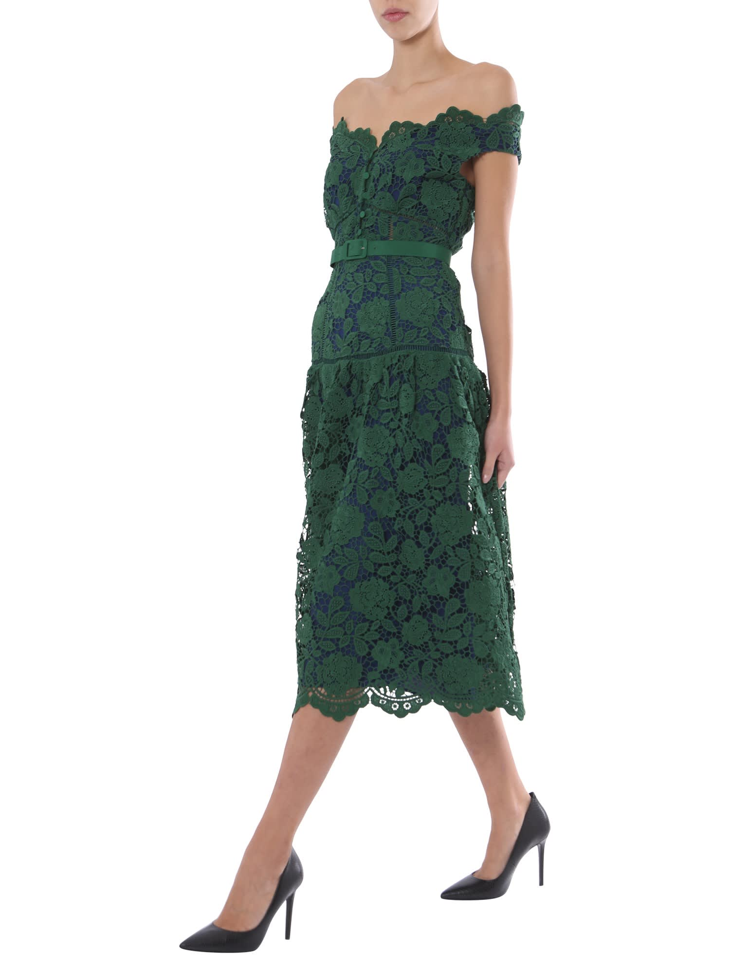 Buy self-portrait Floral Lace Dress online, shop self-portrait with free shipping