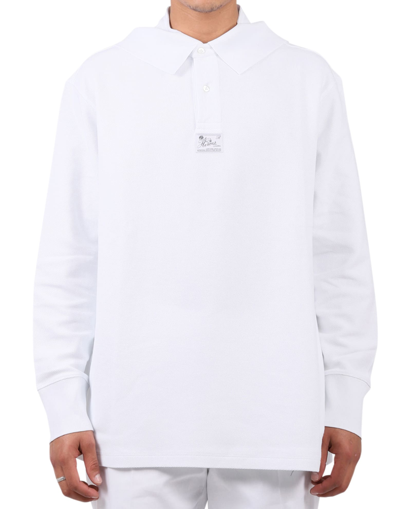 Raf Simons T-shirts WHITE POLO SHIRT