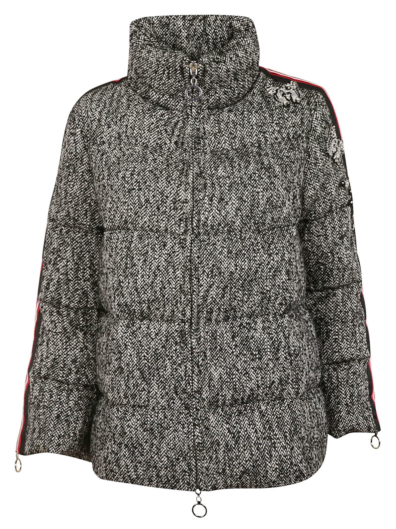 Ermanno Scervino Crystal Embellished Padded Jacket
