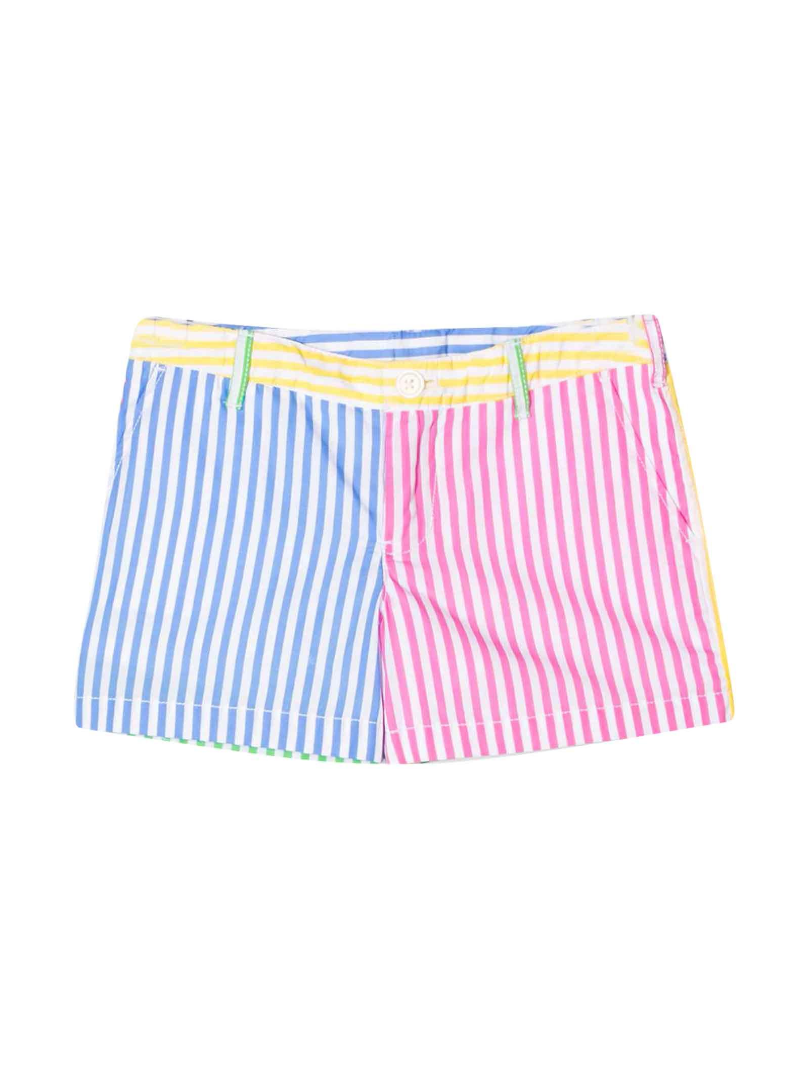 Ralph Lauren Multicolor Shorts With Lines
