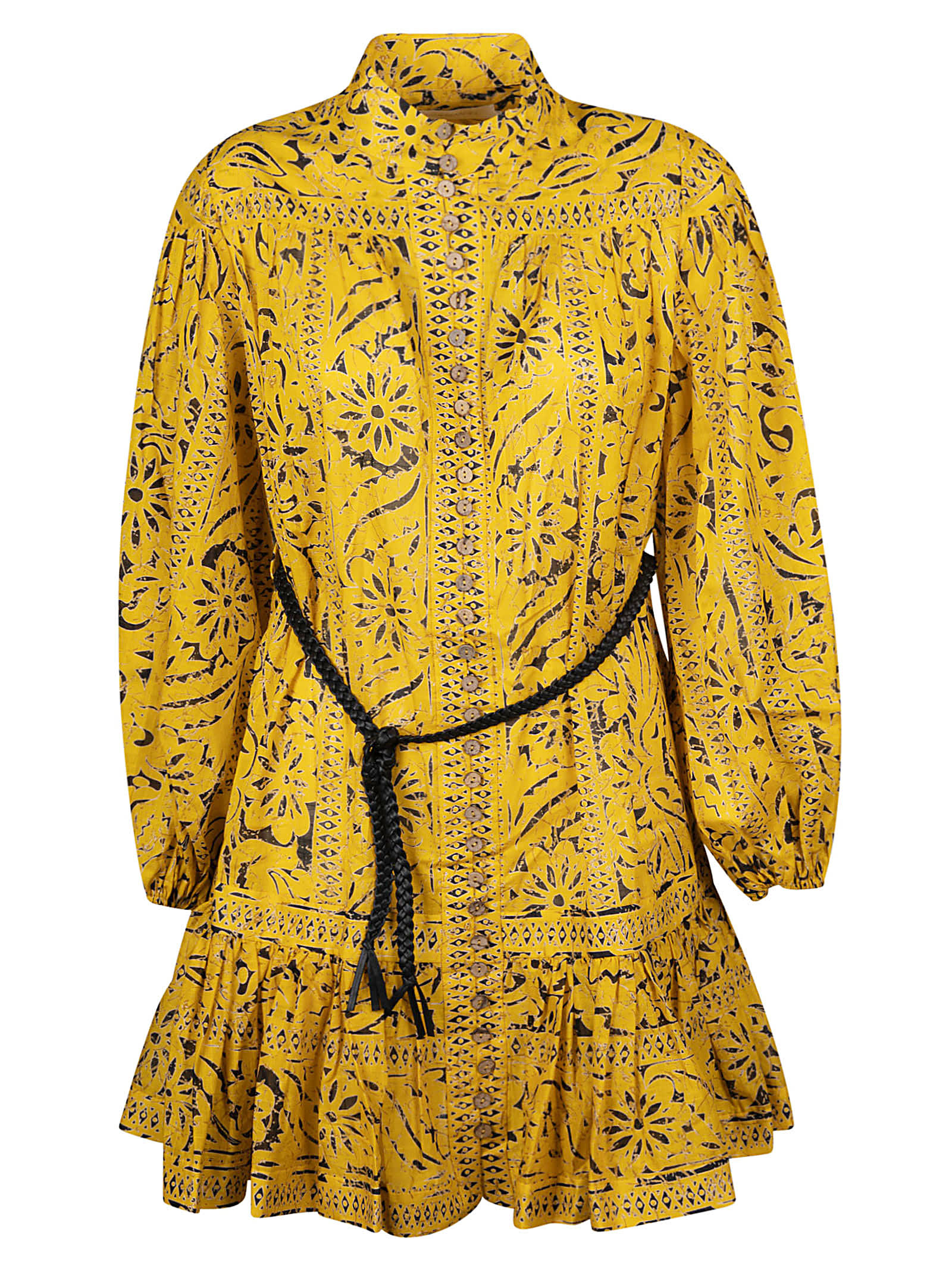 Buy Tied Waist Printed Dress online, shop Zimmermann with free shipping