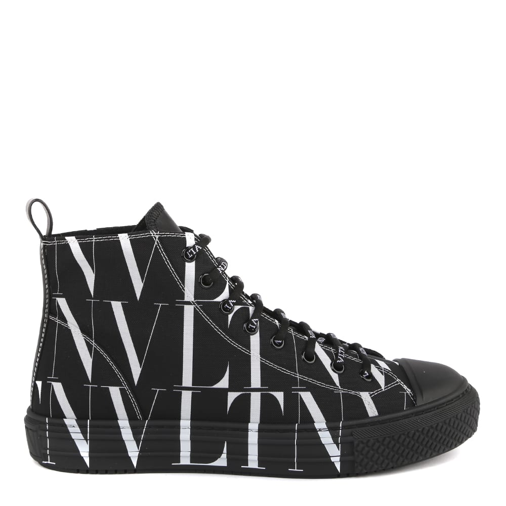 Valentino BLACK HIGH TOP VLTN SNEAKER