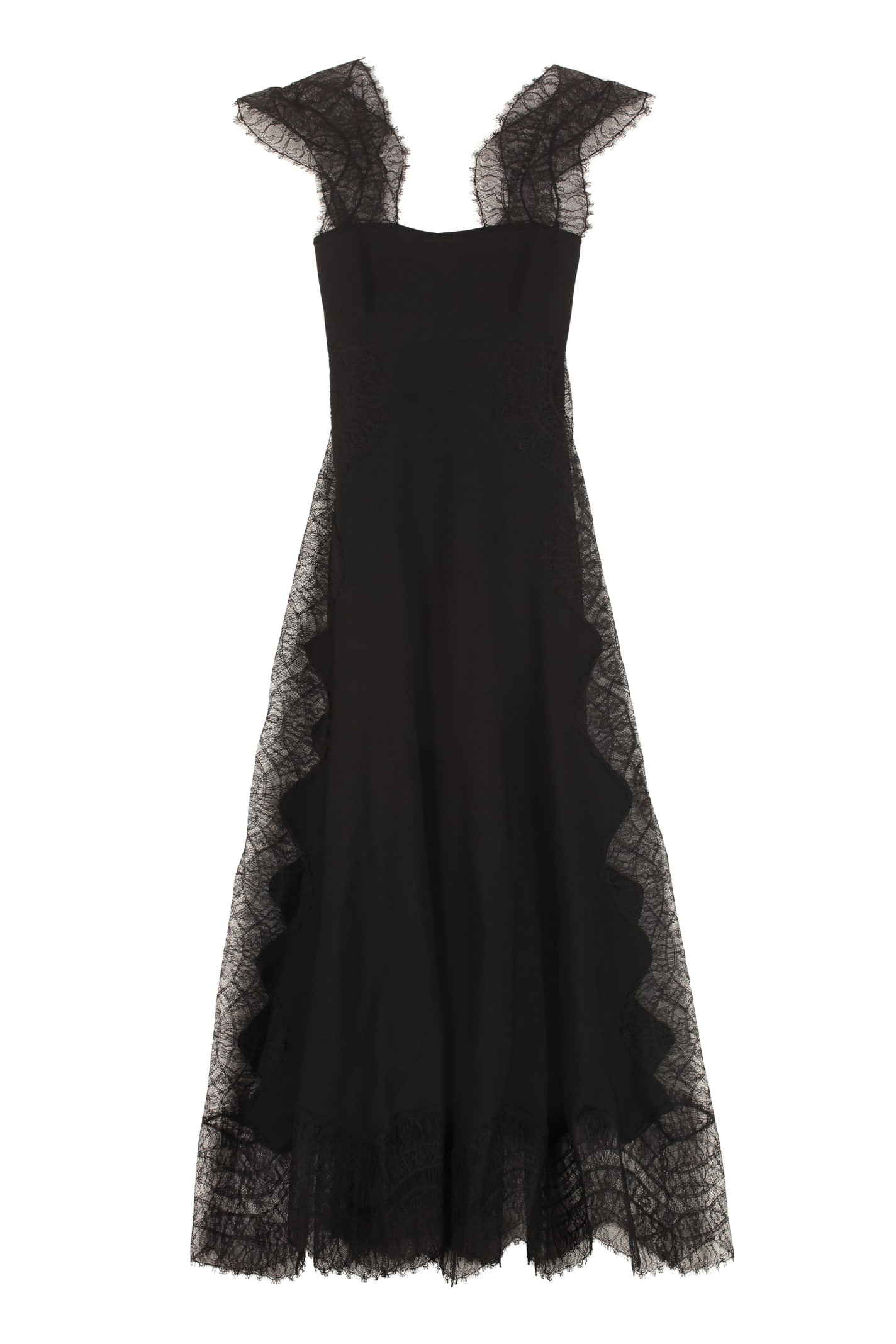 Buy Givenchy Lace Detail Crêpe Dress online, shop Givenchy with free shipping