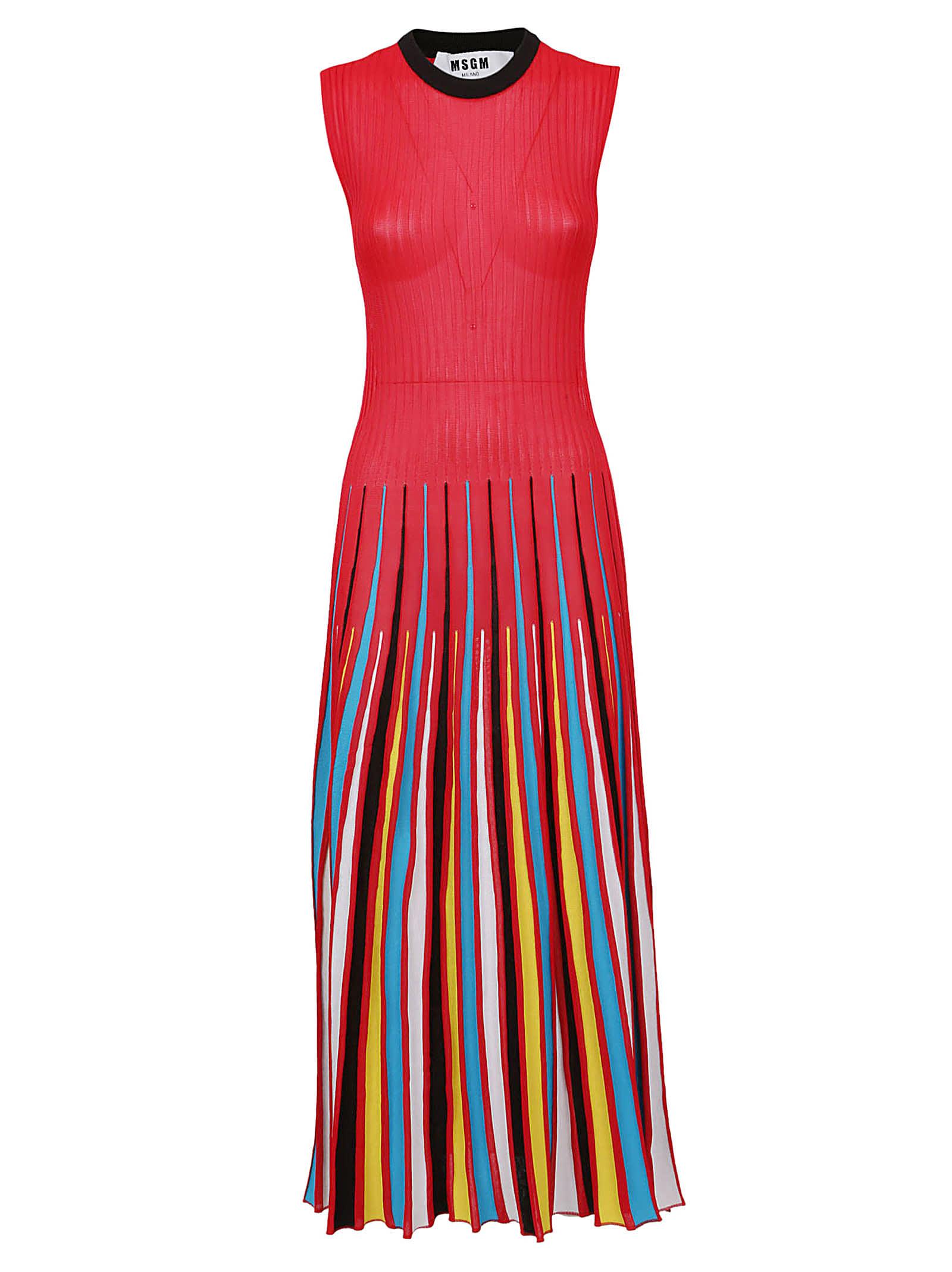 MSGM Pleated Maxi Dress