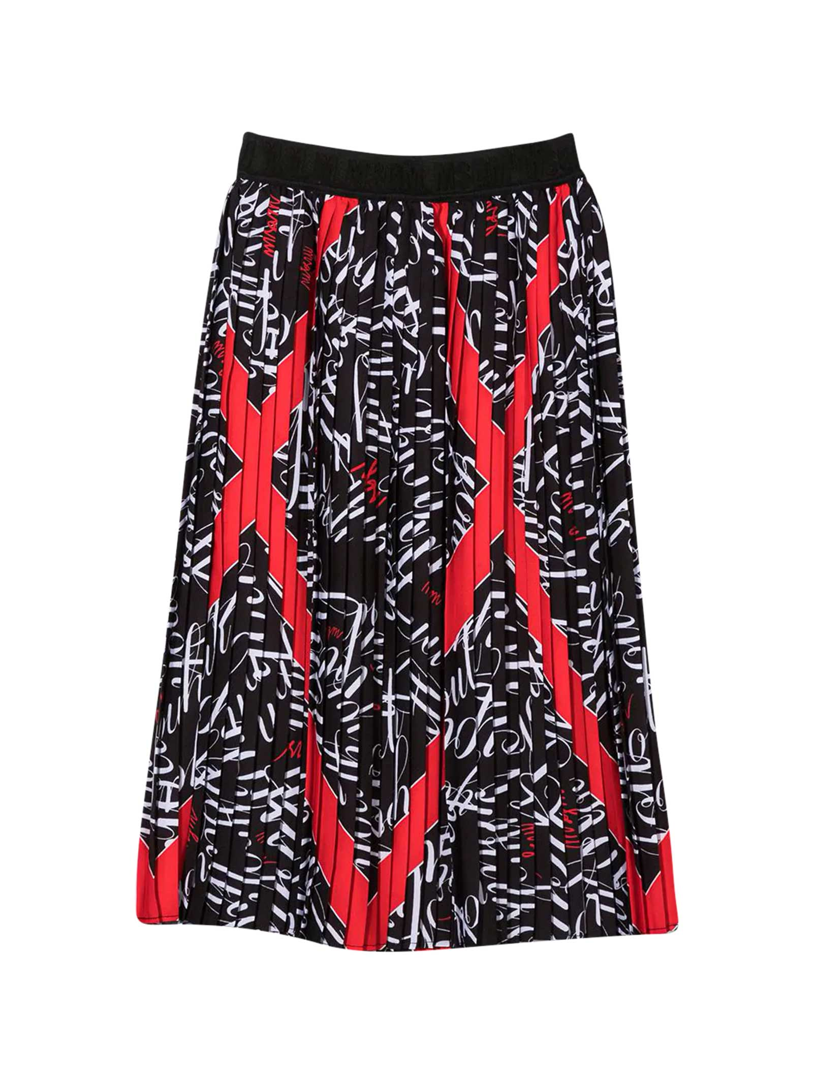Msgm Tops BLACK PLEATED SKIRT TEEN