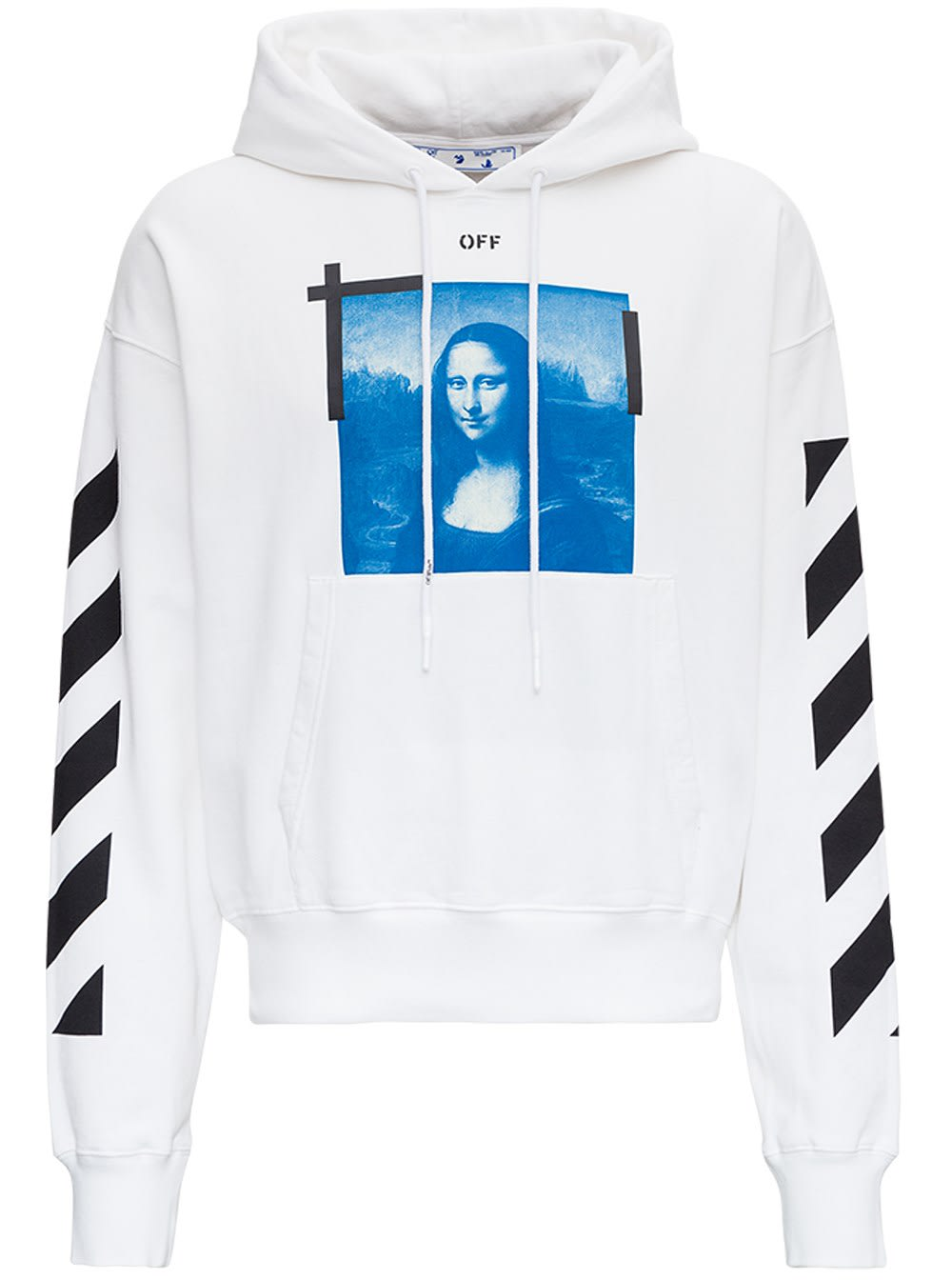 Off-White OVERSIZE HOODIE IN JERSEY WITH MONNALISA PRINT