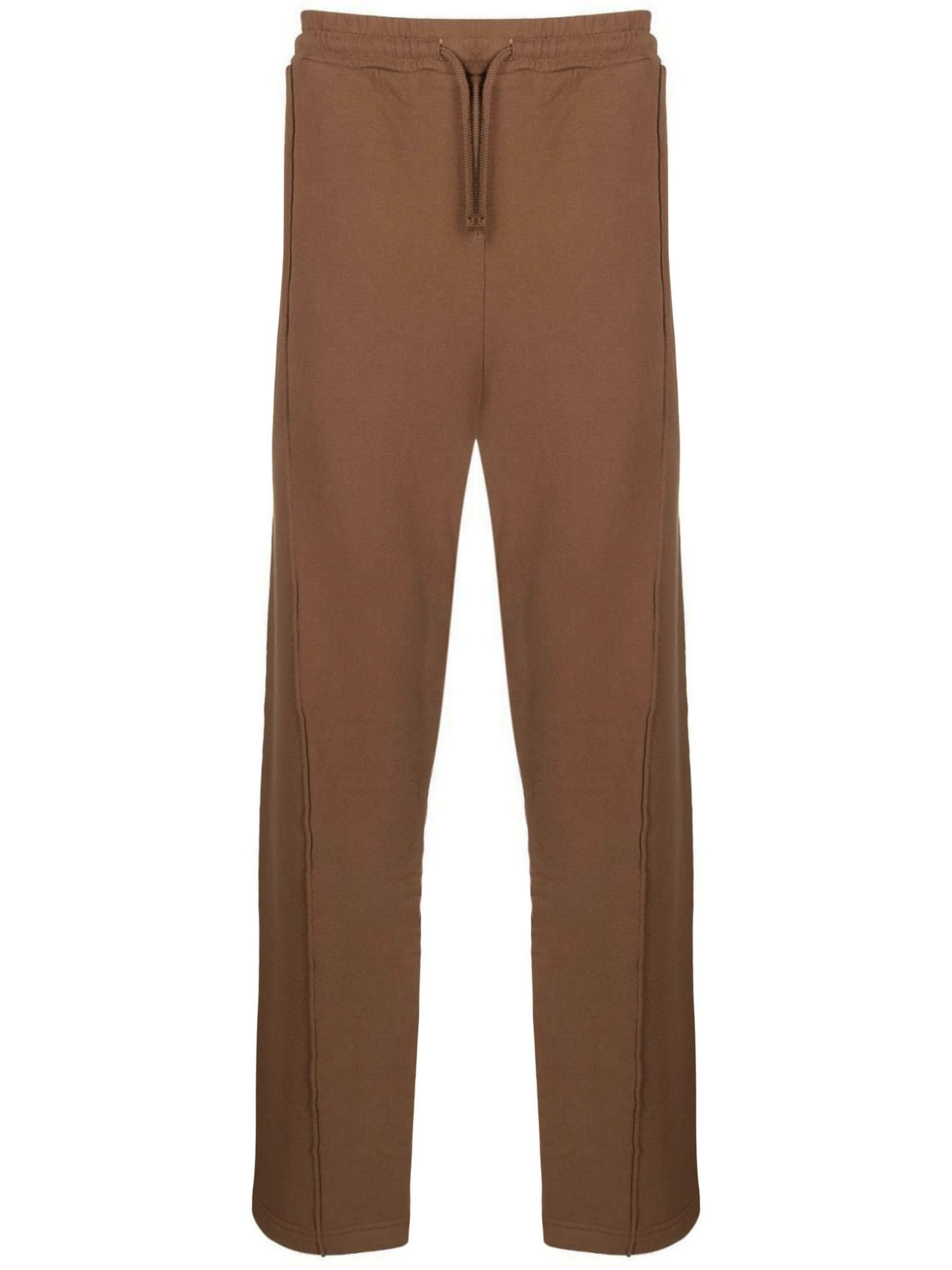 Light Brown Cotton Track Trousers