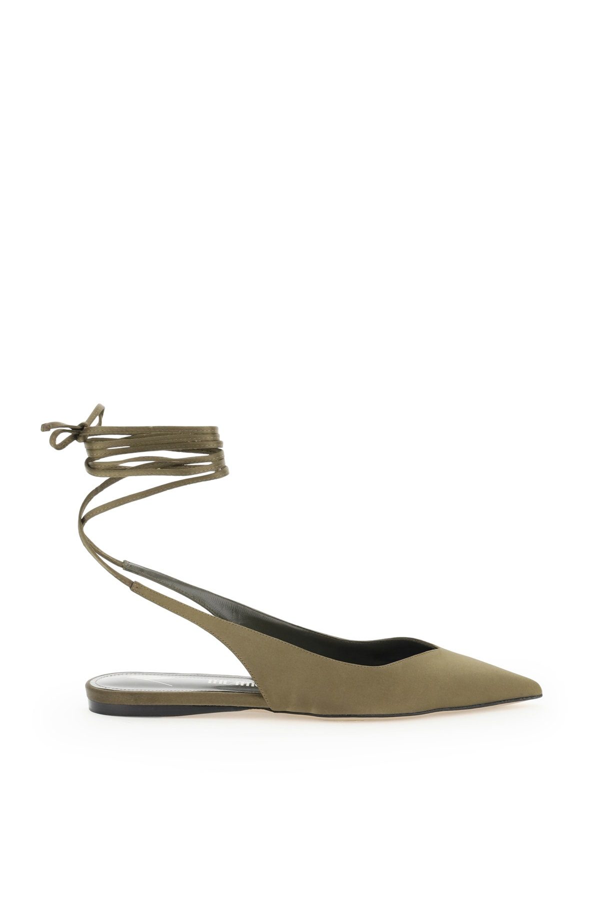 Attico Shoes VENUS SATIN SLINGBACK FLATS