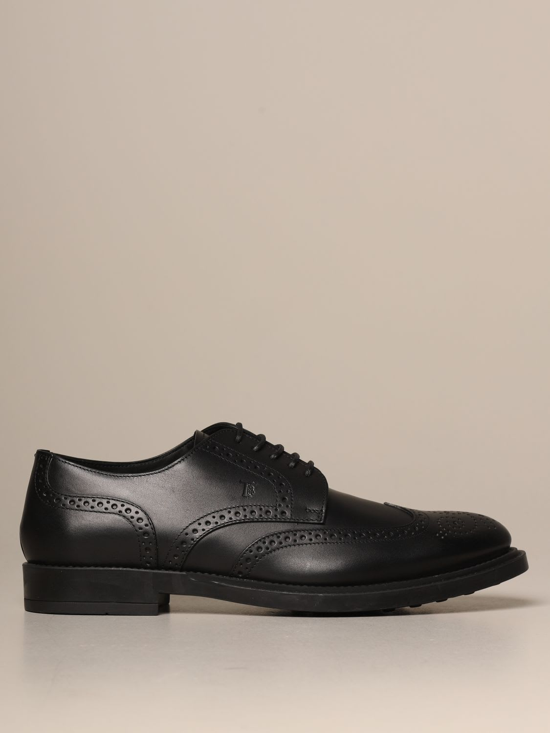 Tod's DERBY IN LEATHER WITH BROGUE MOTIF
