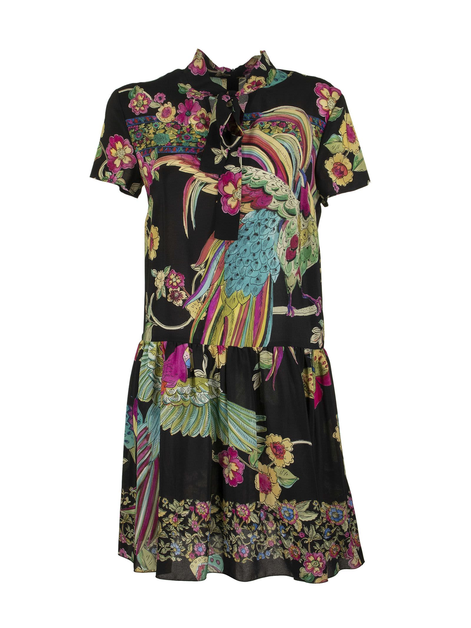 Buy RED Valentino Bird Of Paradise Dress Black online, shop RED Valentino with free shipping