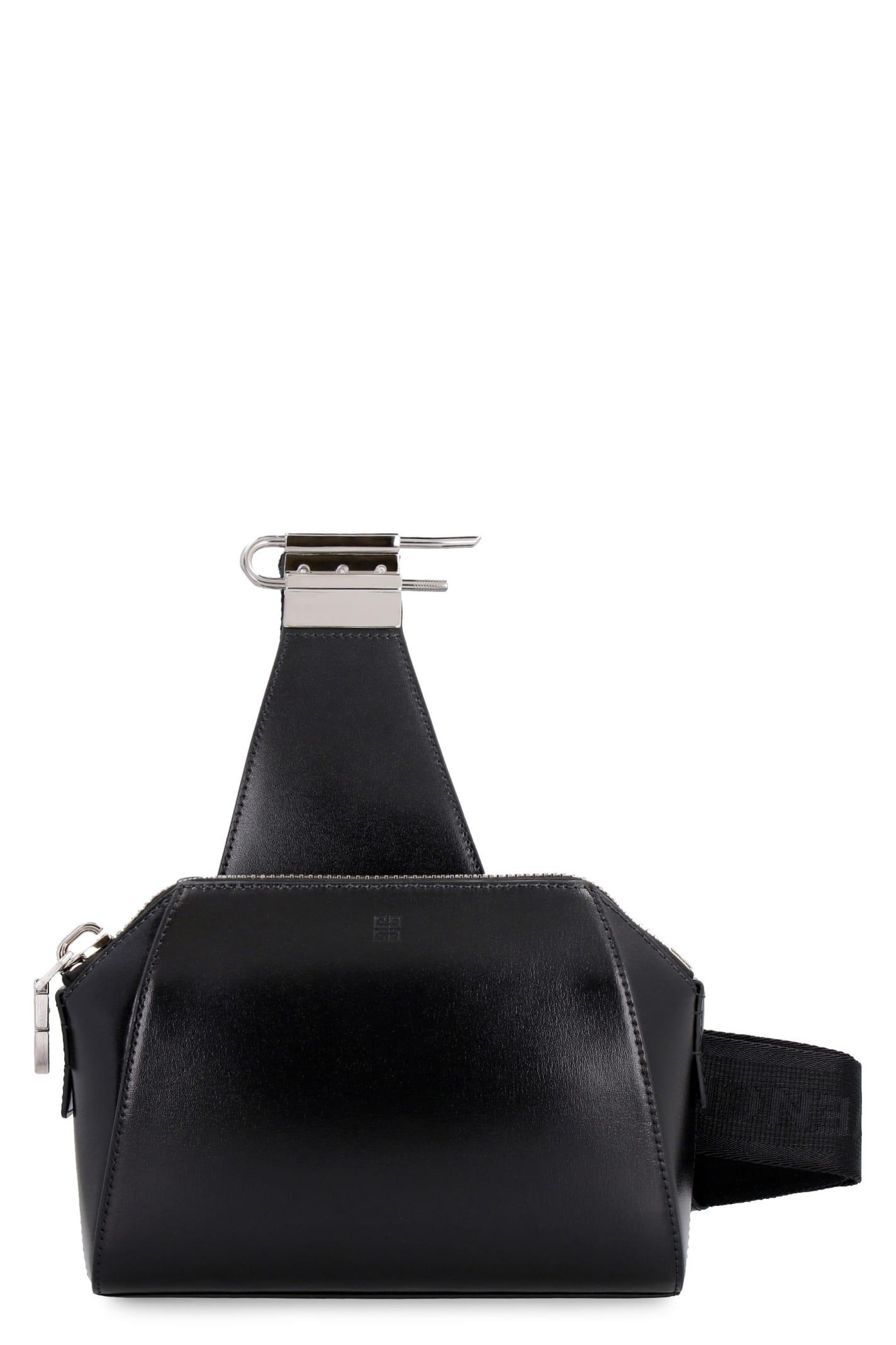 GIVENCHY ANTIGONA LEATHER SMALL MESSENGER BAG
