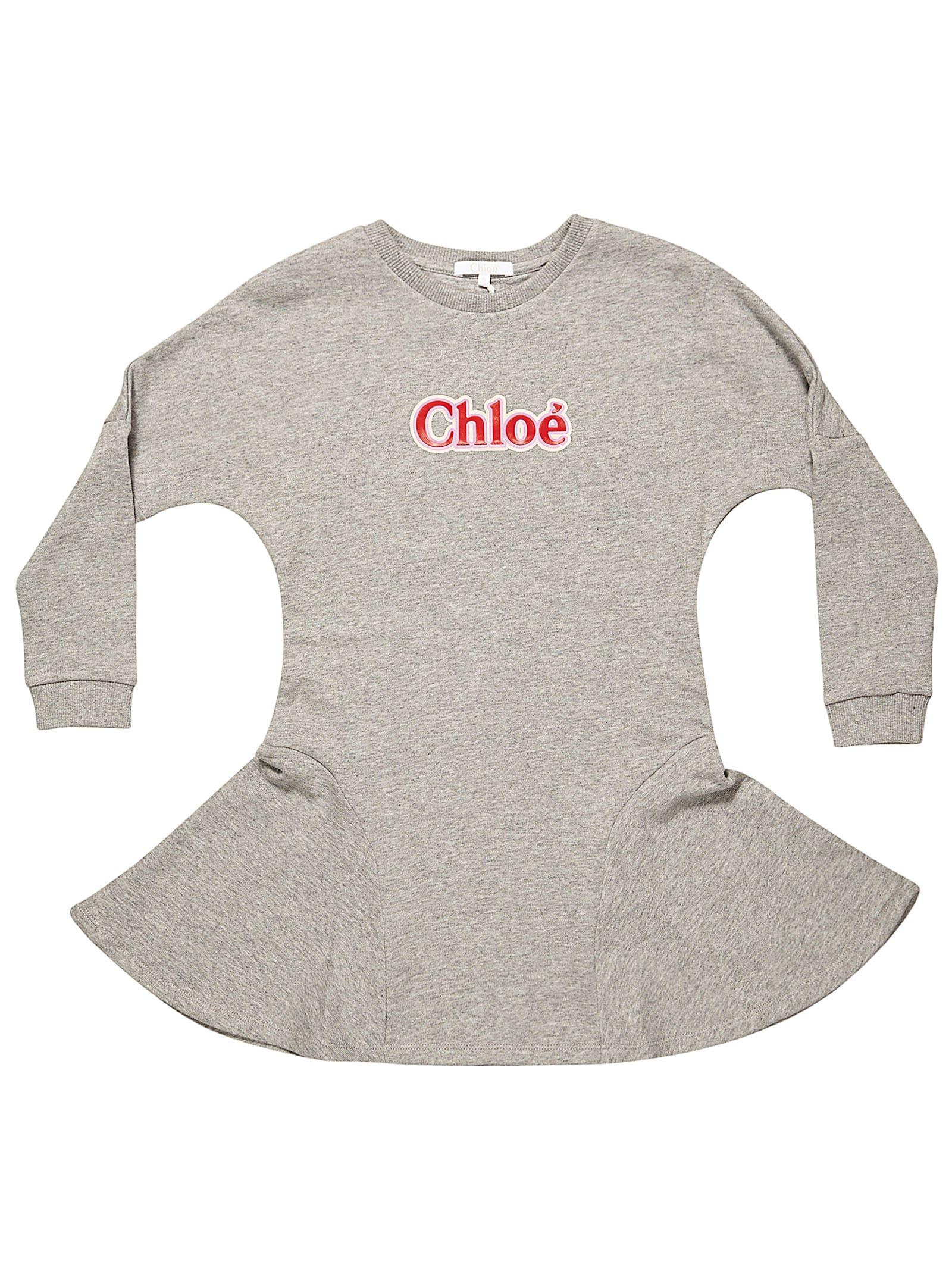 Chloé Logo Print Dress
