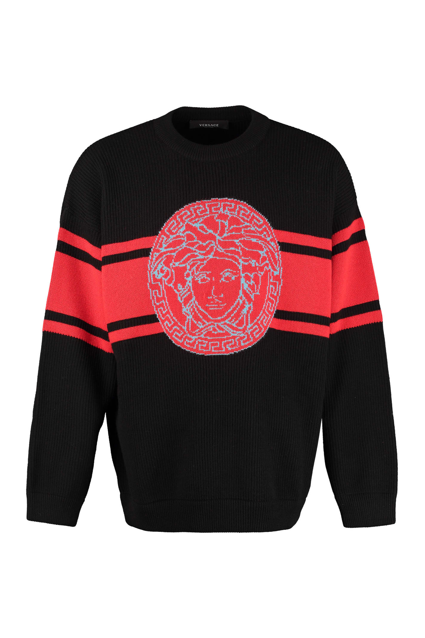 Versace Clothing RIBBED WOOL SWEATER