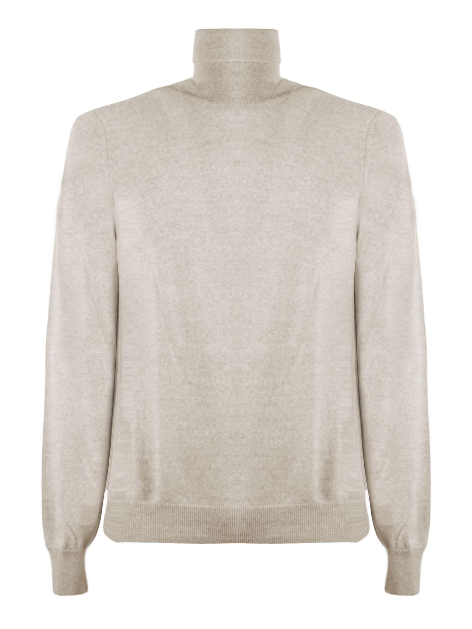 Fay Beige Virgin Wool Sweater