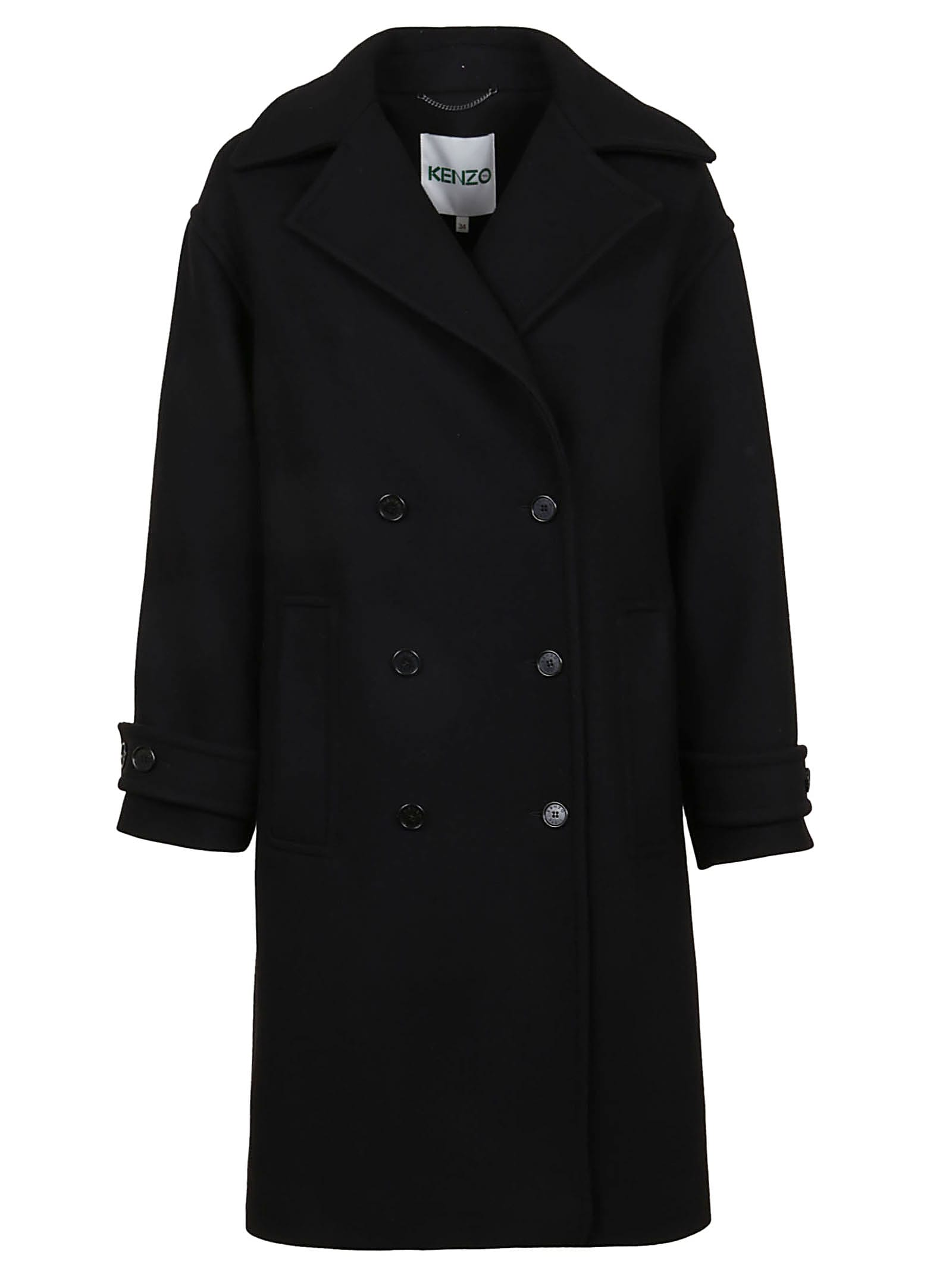 Kenzo Cocoon Coat Double Breasted