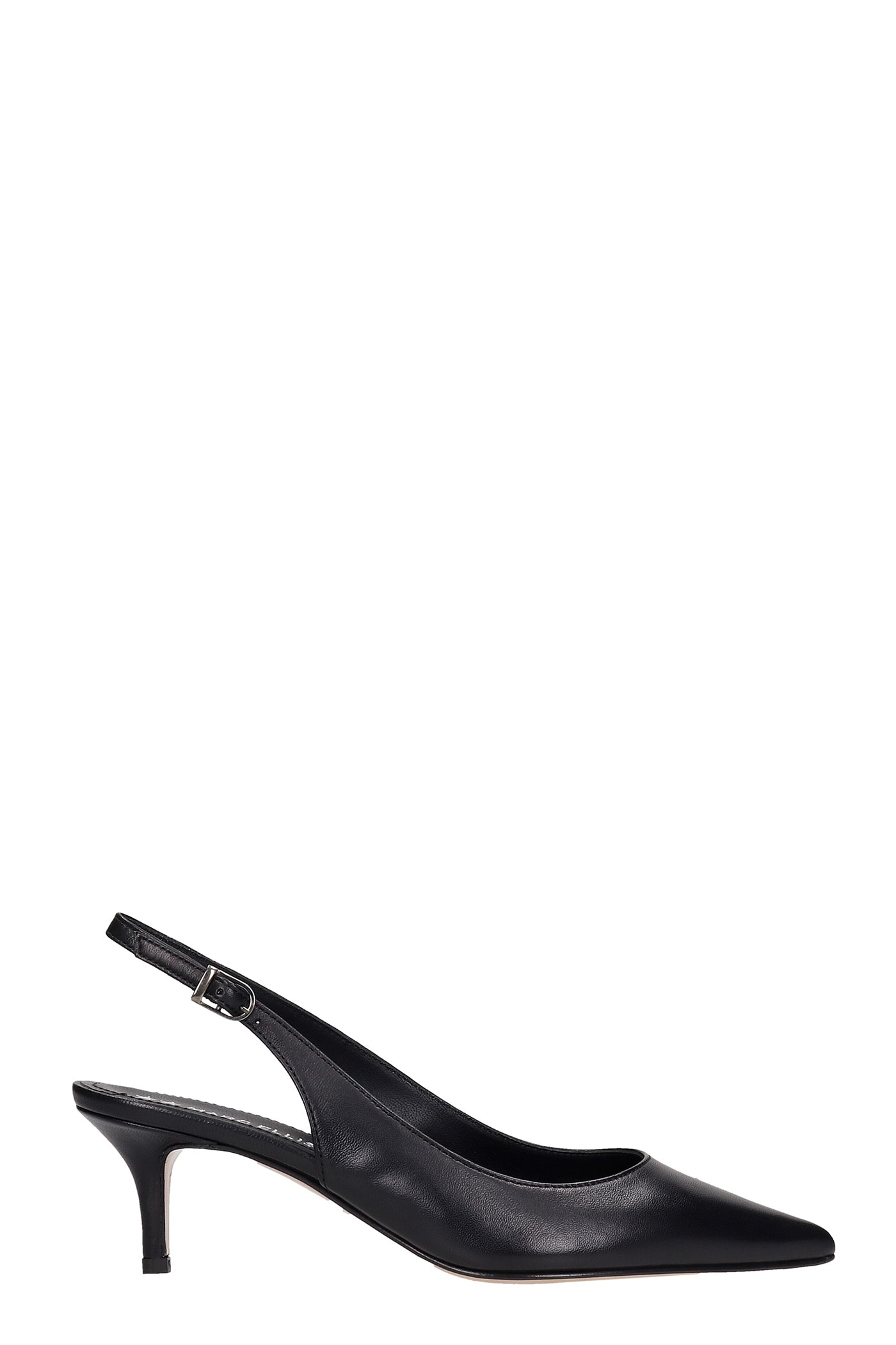 Summer Pumps In Black Leather