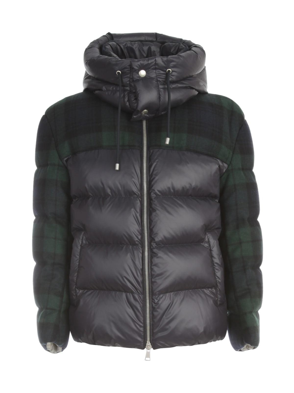 Short Padded Jacket Tartan