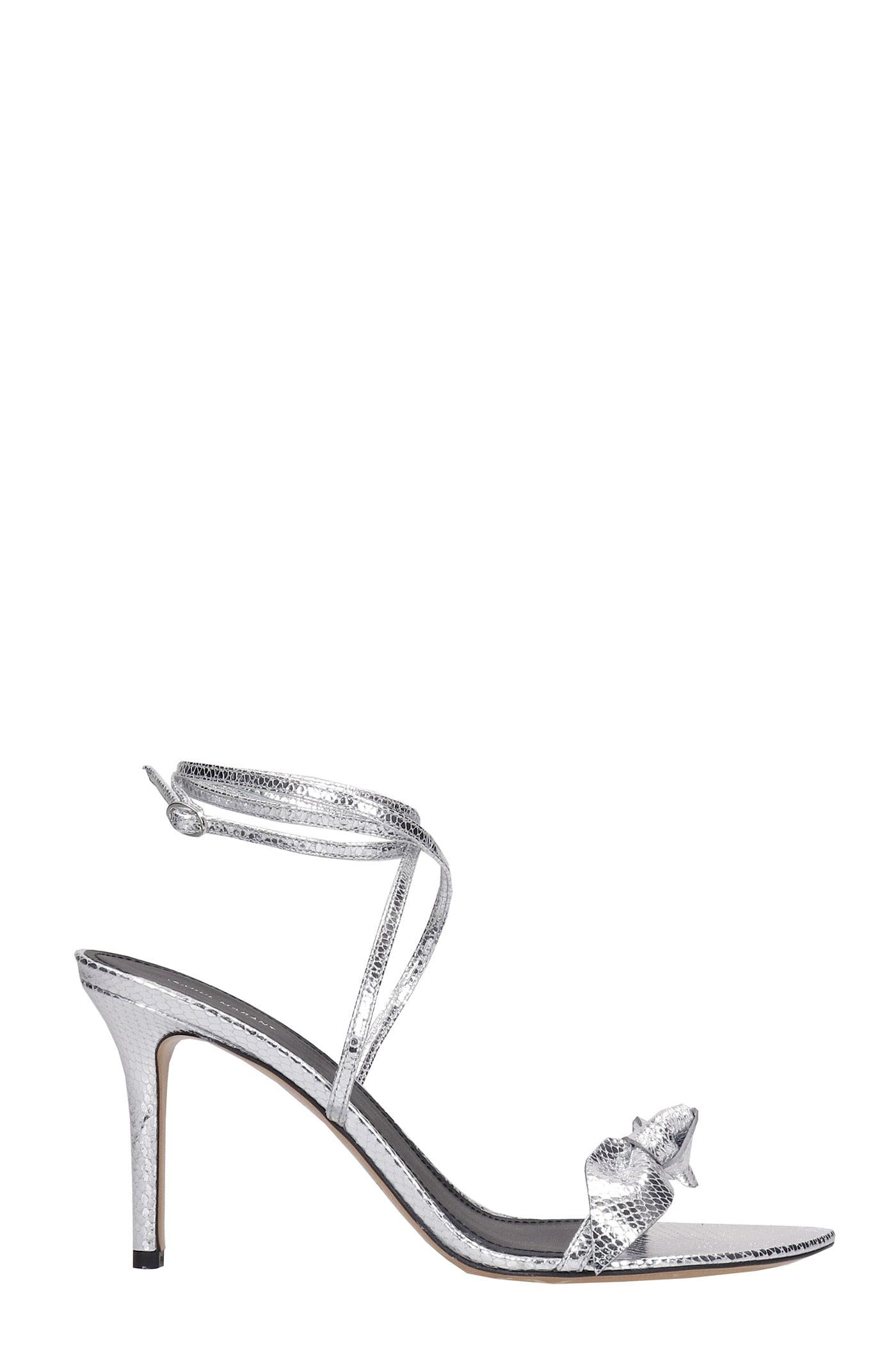 Buy Isabel Marant Alt Sandals In Silver Leather online, shop Isabel Marant shoes with free shipping