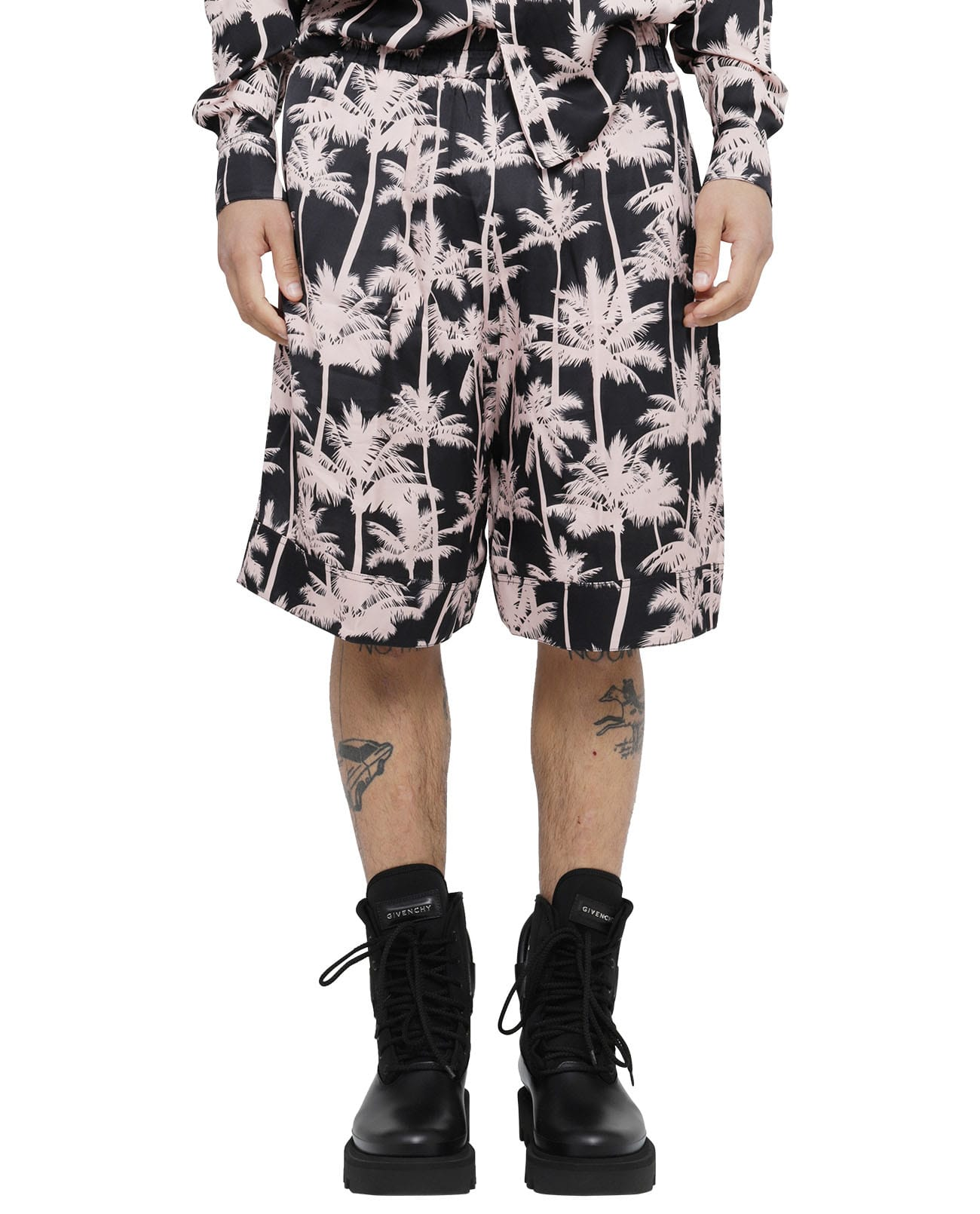 Laneus Shorts BLACK PALME BERMUDAS