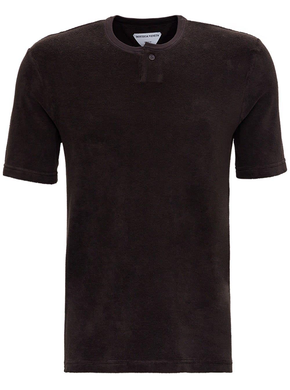 Bottega Veneta BROWN TERRY CLOTH T-SHIRT