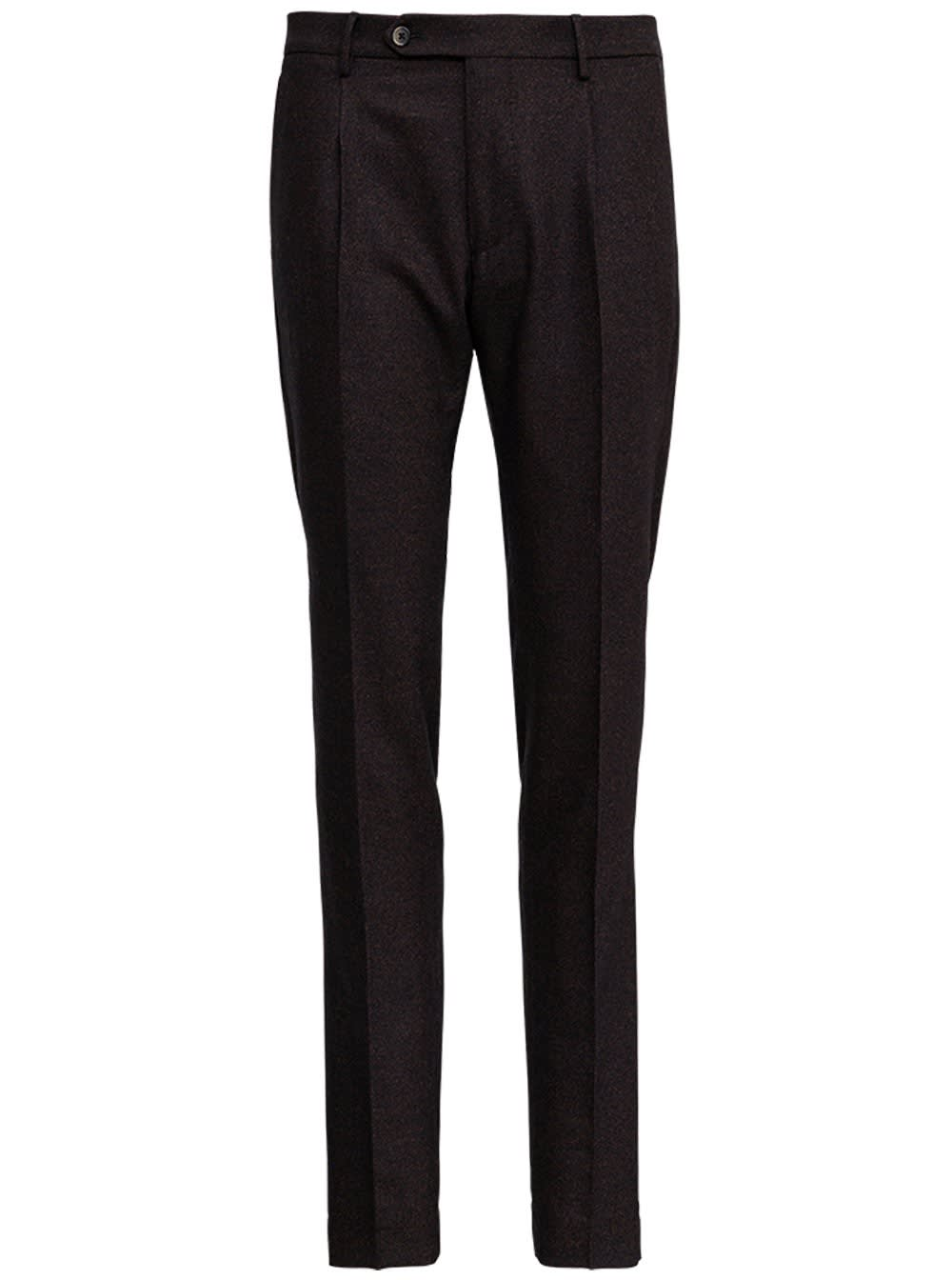 Brown Tailored Wool Pants