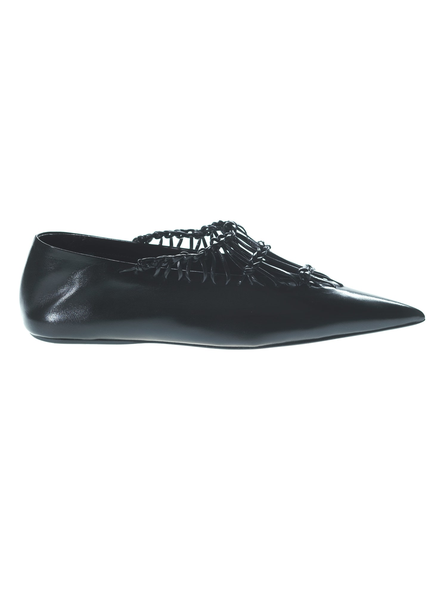 Buy Jil Sander Ballerina Tripon 999 Nero online, shop Jil Sander shoes with free shipping