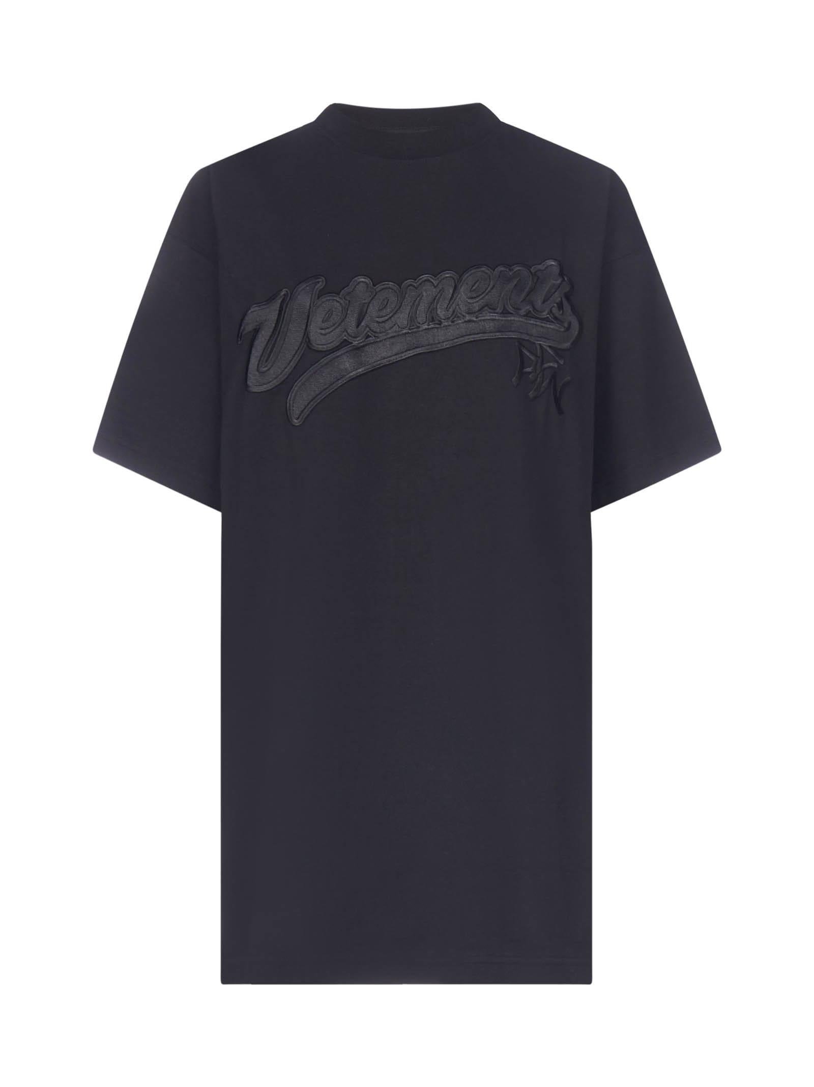 VETEMENTS Hip Hop Logo Oversized Cotton T-shirt