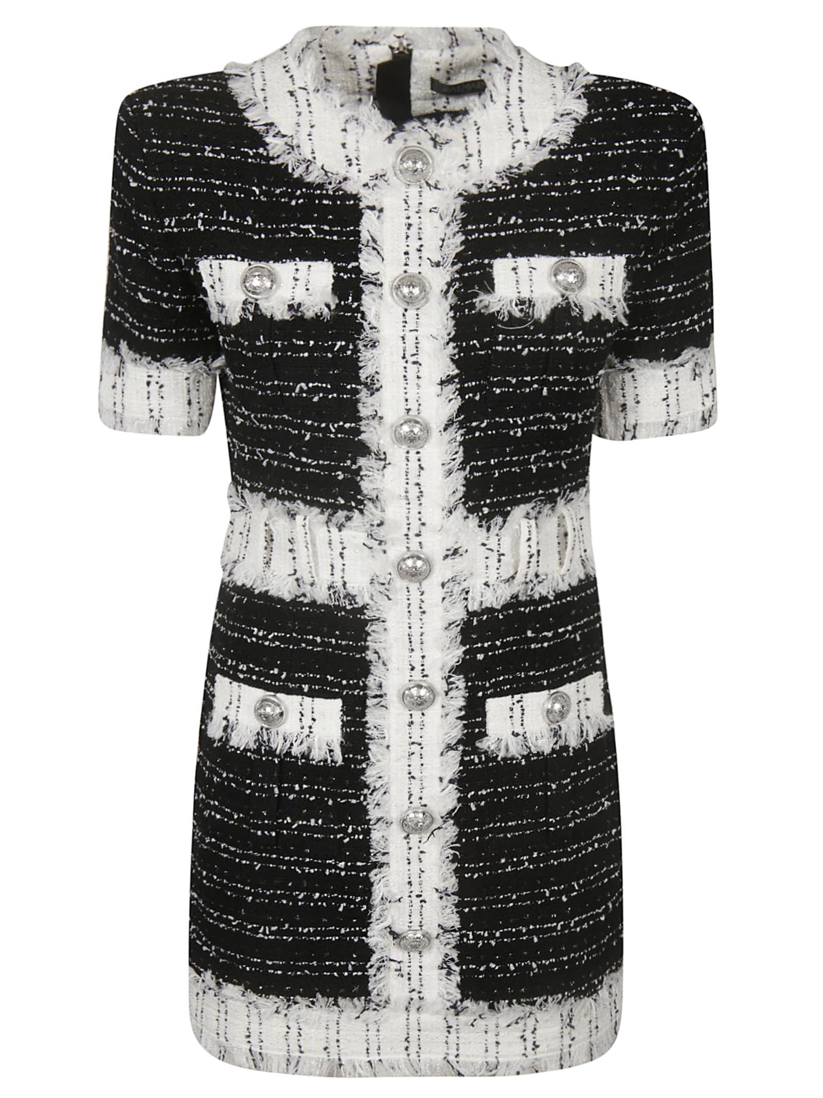 Balmain Button Tweed Dress